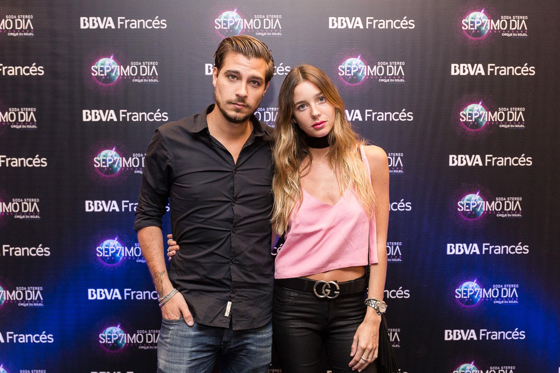 Lucia Celasco y su novio