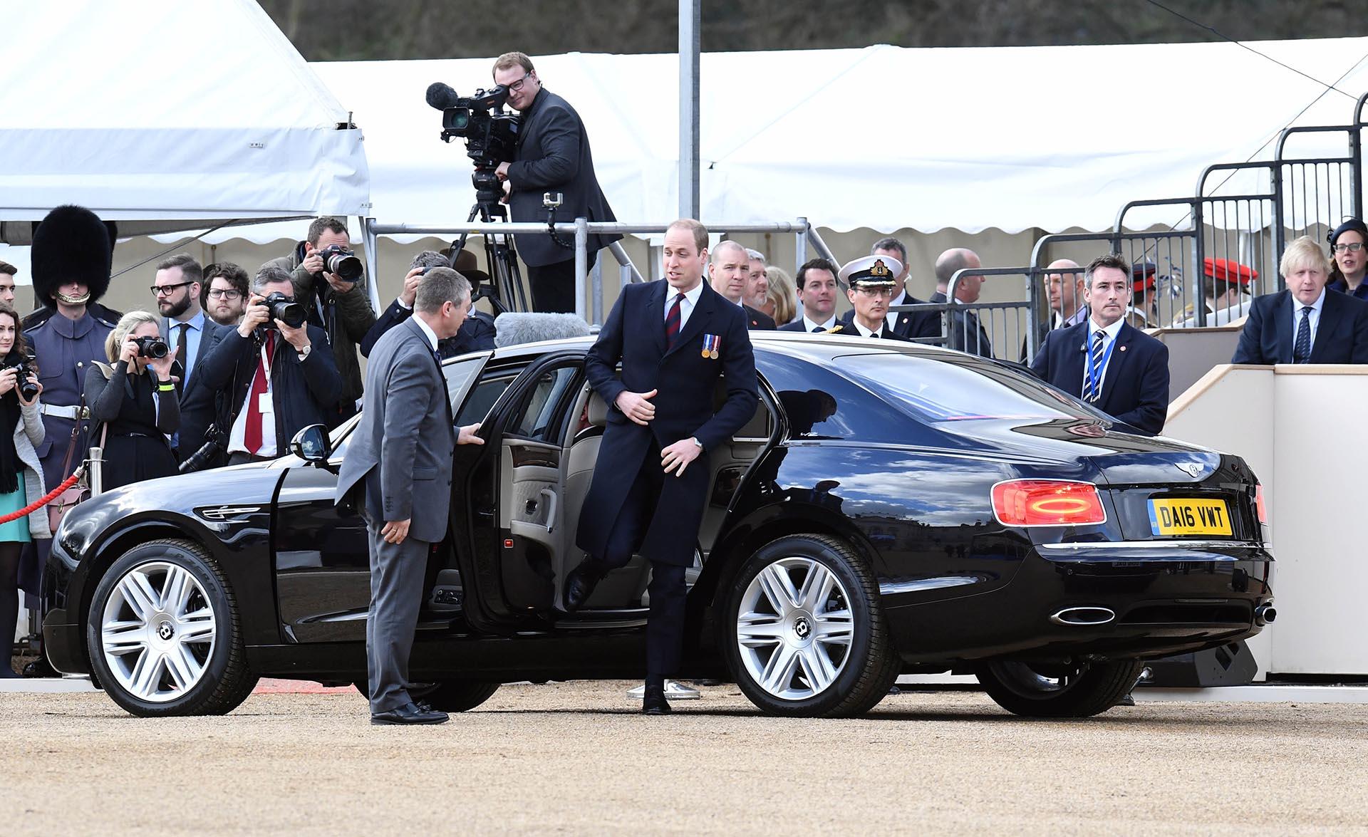 La llegada del príncipe Guillermo