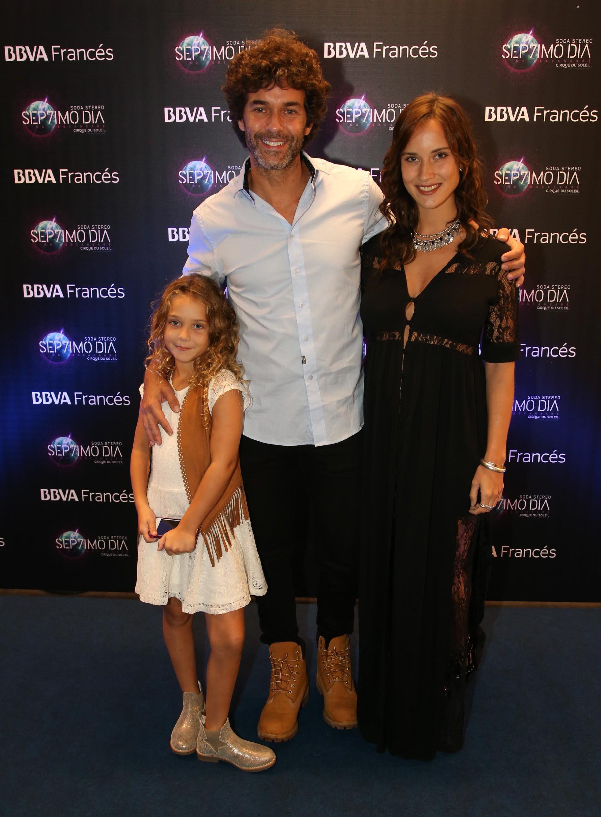 """Mariano Martínez y su hija Olivia junto a Camila Cavallo el gran estreno de """"Sép7imo Día"""""""