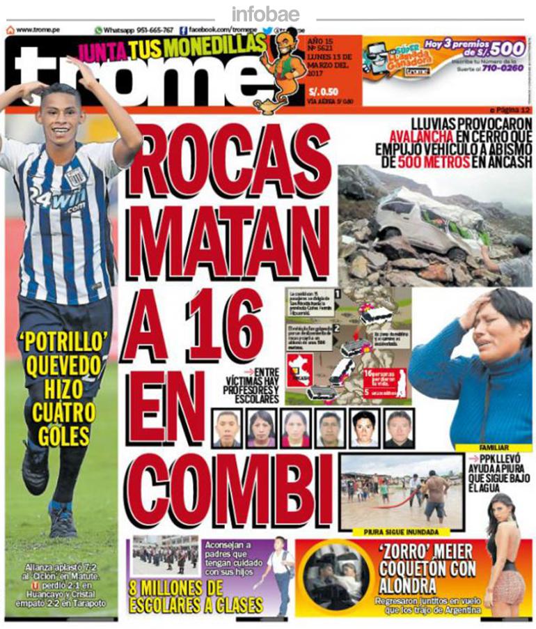 Trome Perú Lunes 13 De Marzo De 2017 Factor Noticia
