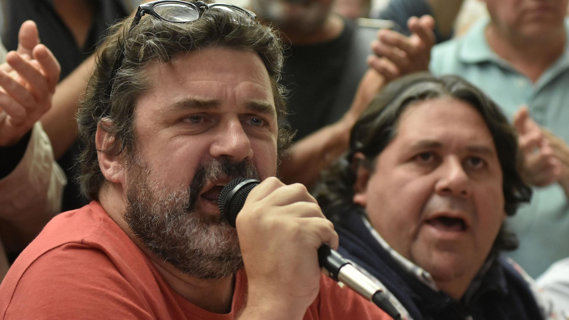 Los metrodelegados Roberto Pianelli y Néstor Segovia (foto de archivo: DyN)