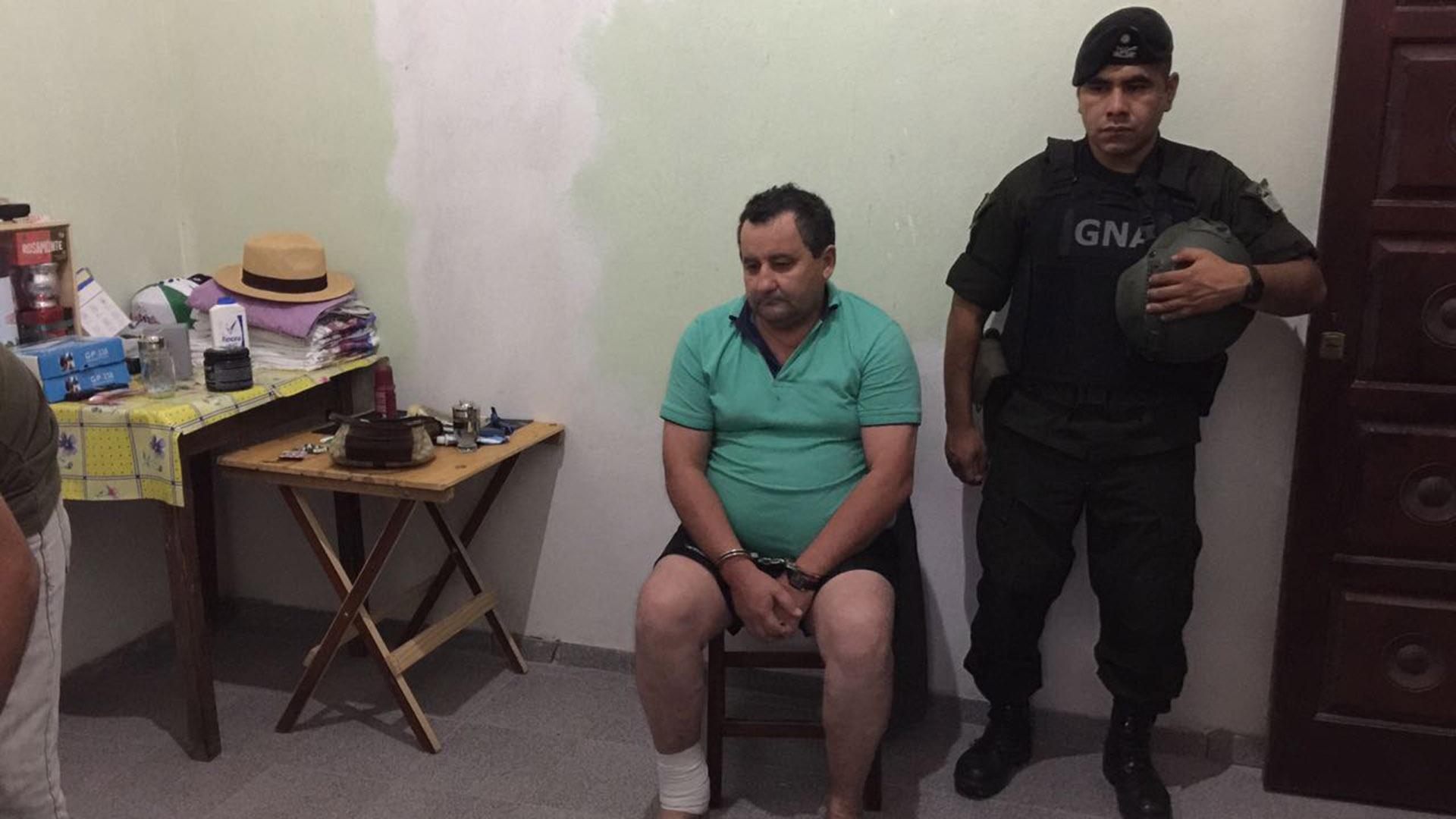 Terán, ex intendente de Itatí, cuando fue detenido en marzo el año pasado