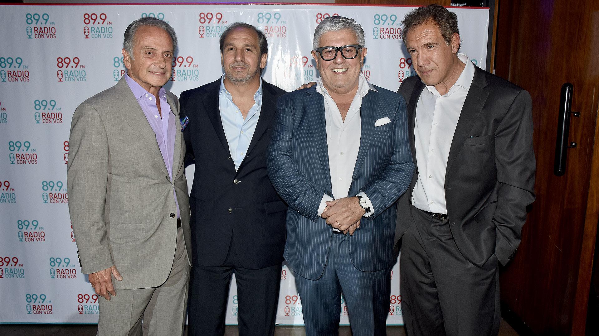 Beto Vijnovsky, Nicolás Caputo, Carlos Gorosito y Daniel Hadad
