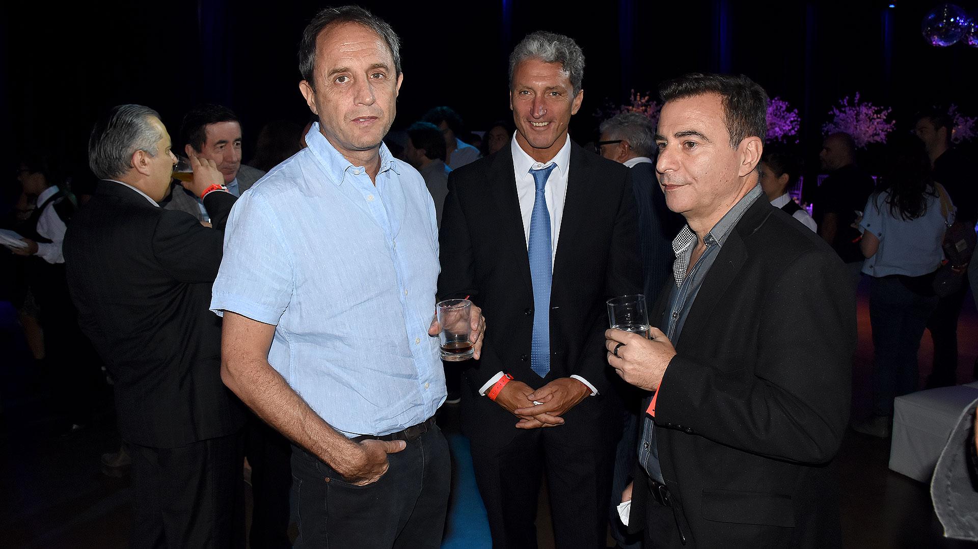 Ernesto Tenembaum, José Scioli y Reynaldo Sietecase