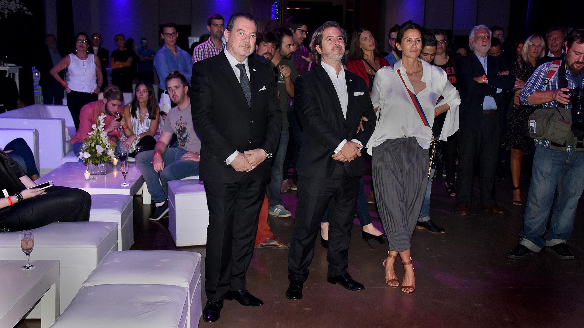 Mario Montoto, Ignacio Sáenz Valiente y Mechi Ocampo