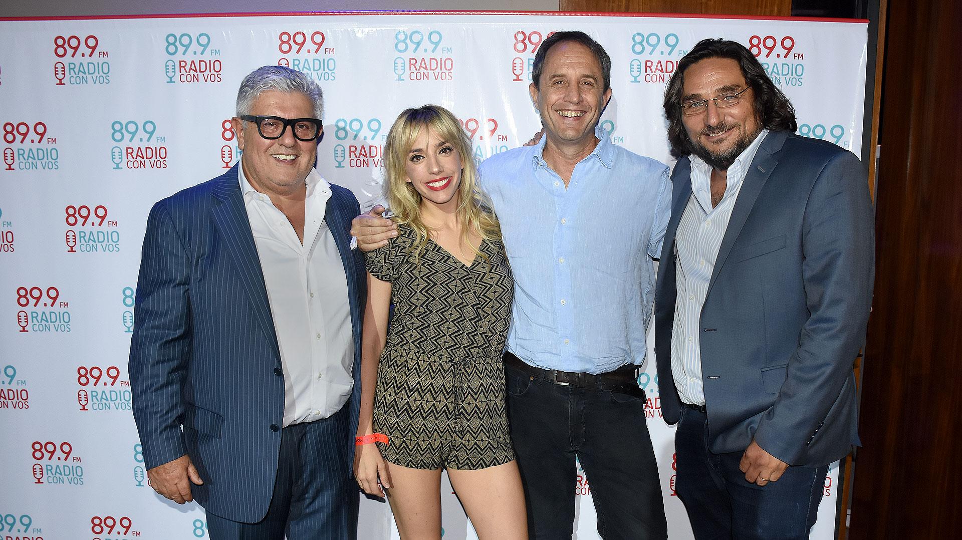 Carlos Gorosito, Tamara Pettinato, Ernesto Tenembaum y Martín Kweller
