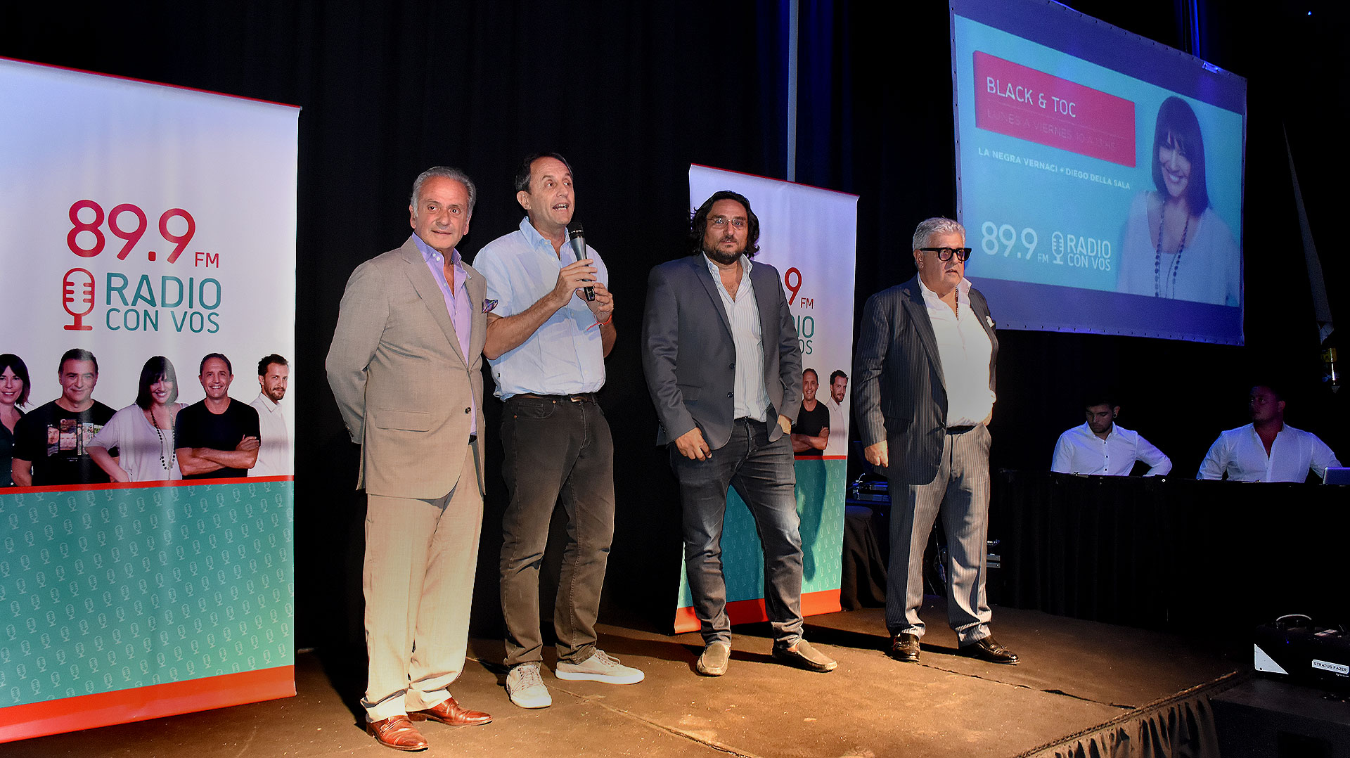 Beto Vijnovsky, Ernesto Tenembaum, Martín Kweller y Carlos Gorosito