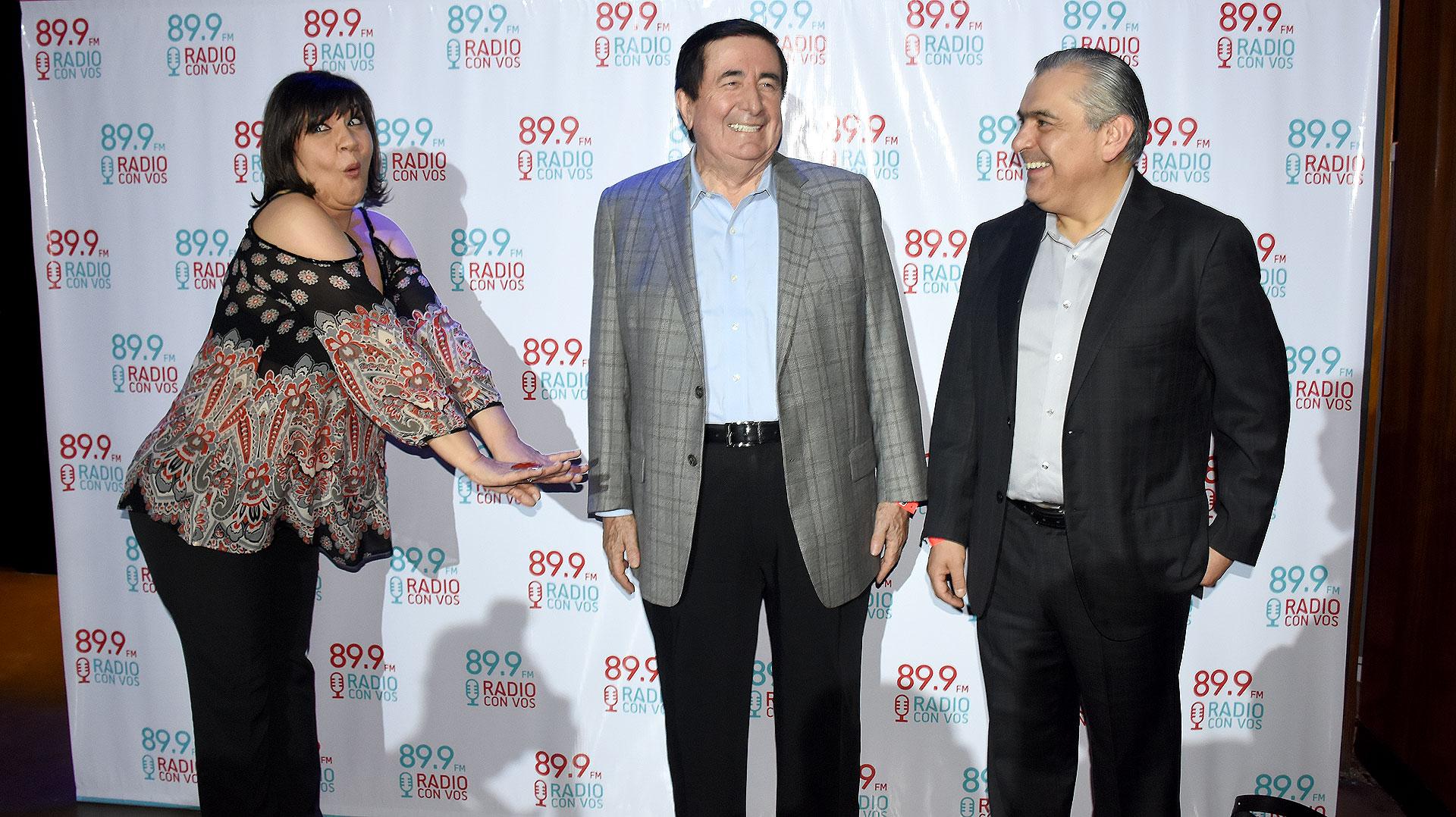 Elizabeth Vernaci, Jaime Durán Barba y Santiago Nieto