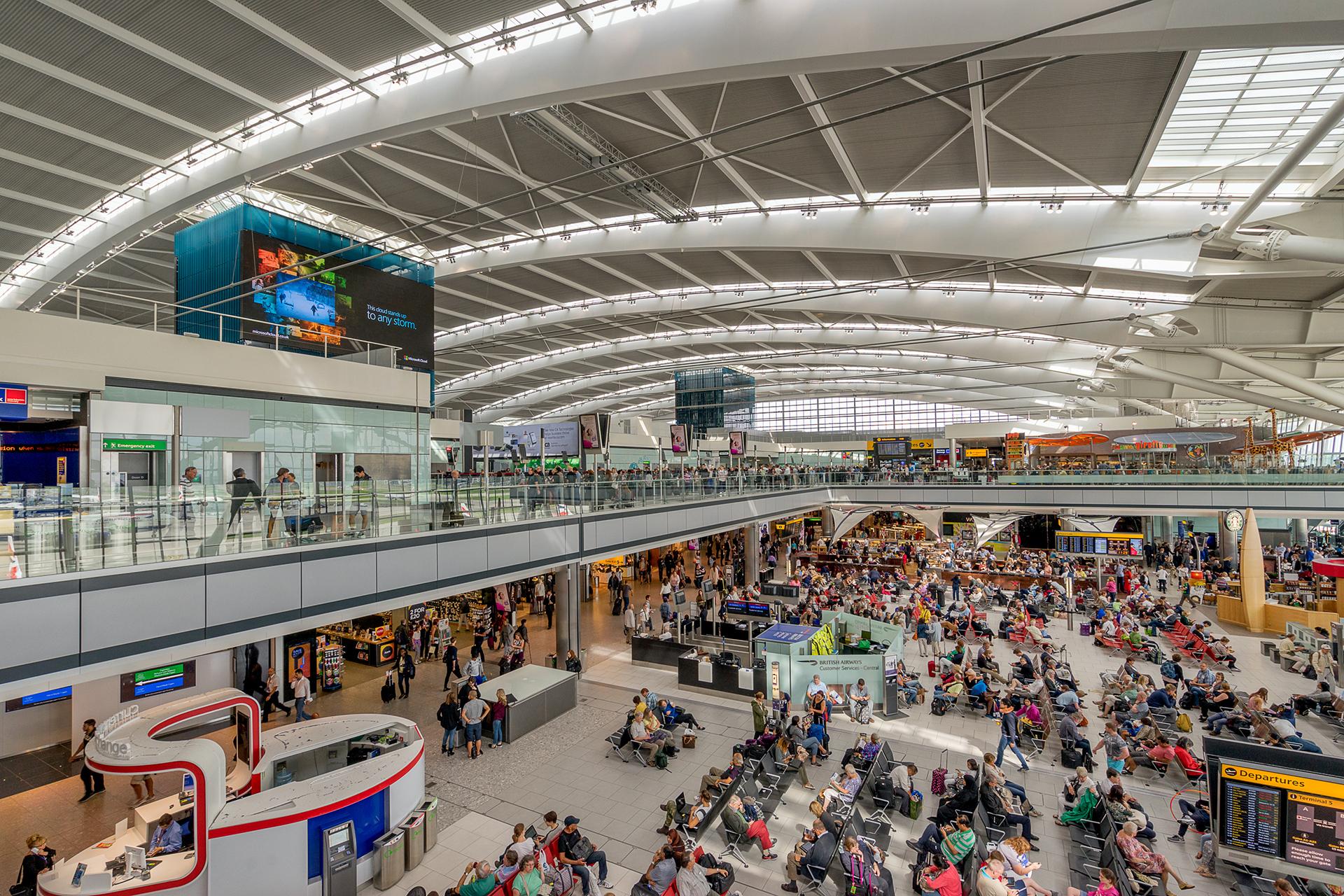 El aeropuerto deHeathrow, en Londres, uno de los afectados por la falla informática