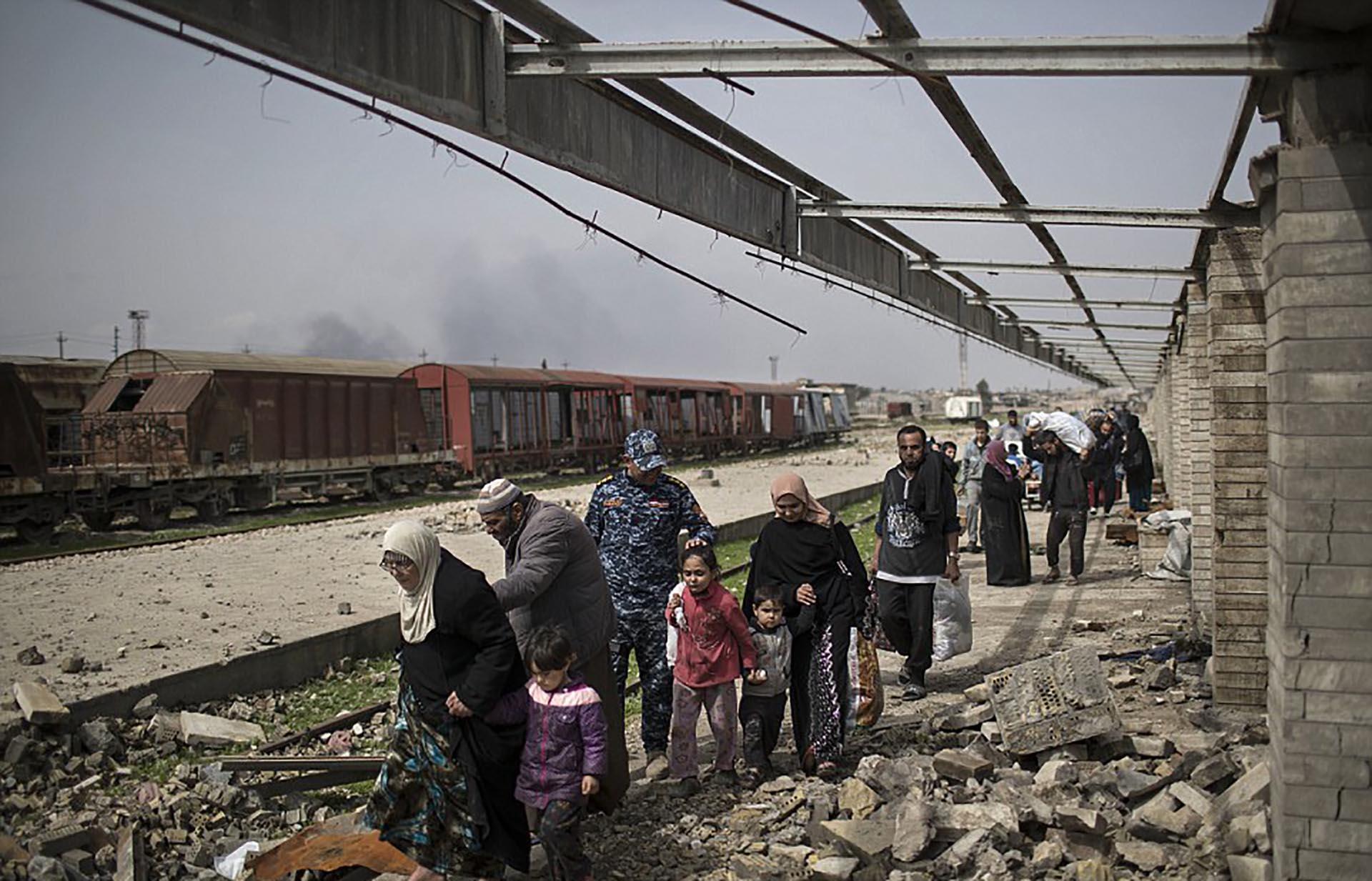En las últimas semanas aumentó significativamente el número de desplazados (AP)