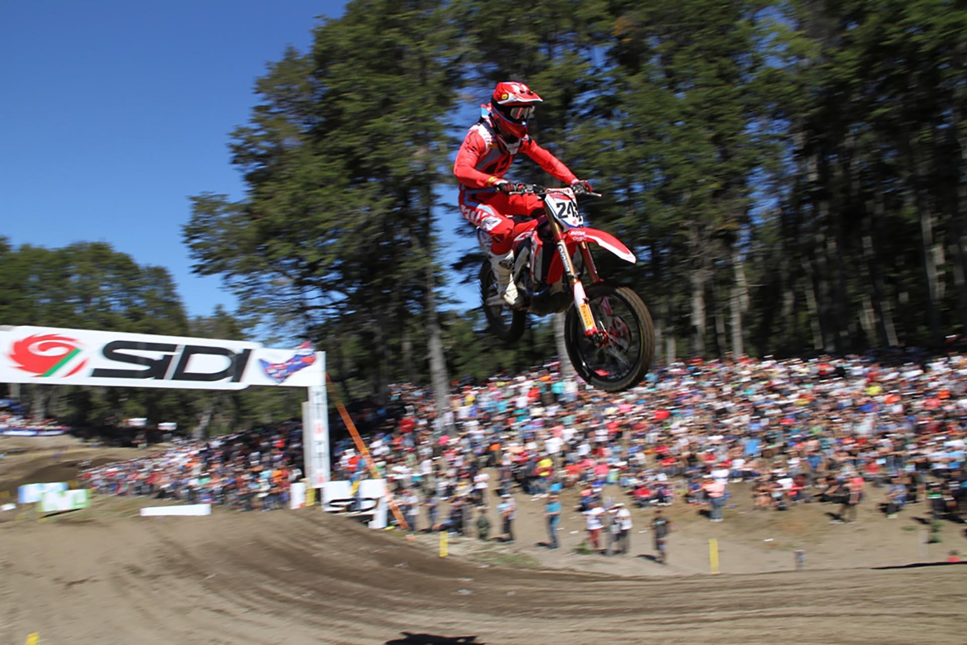 Tim Gajser fue el más rápido en la Patagonia (Mintur Arg)