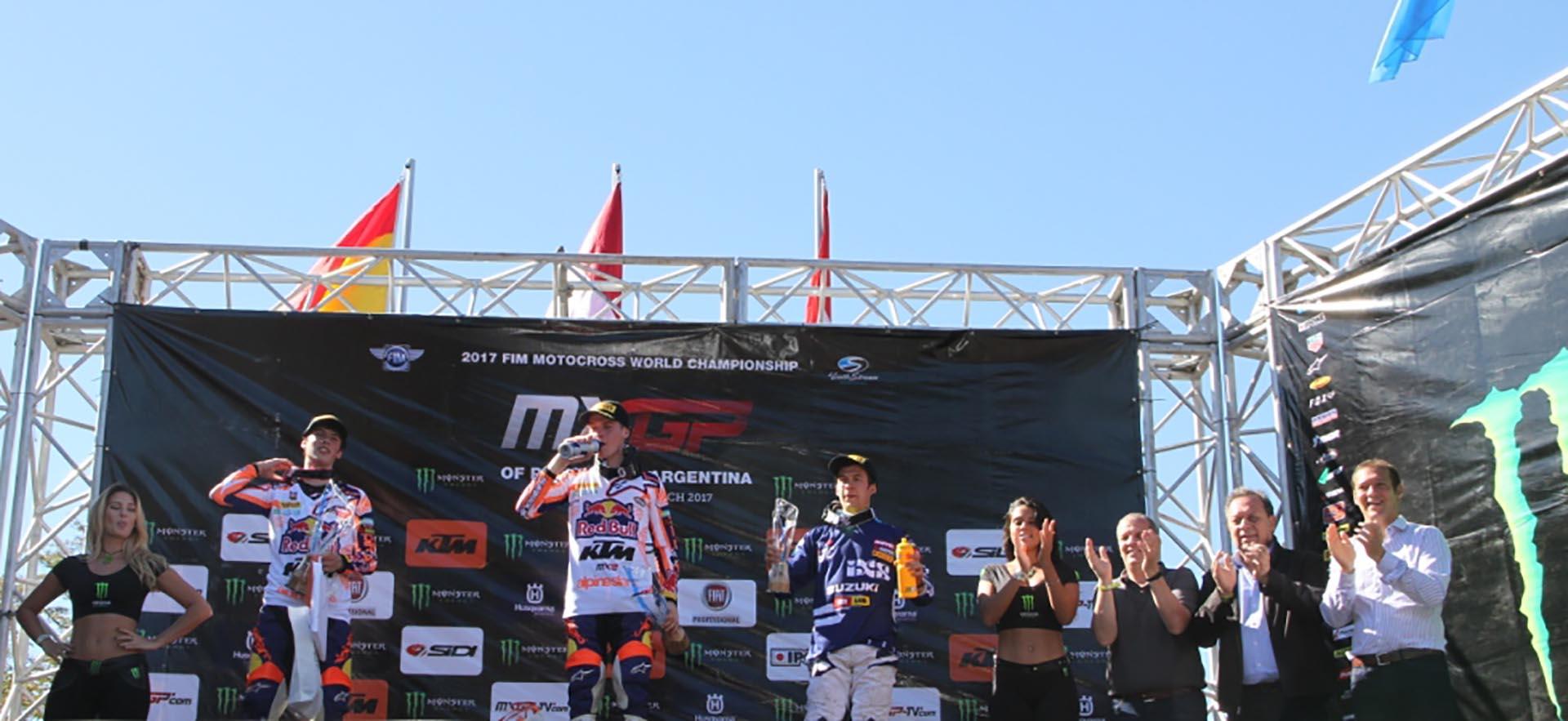 En la categoría MX2, en tanto, el que lideró la competencia fue Pauls Jonass, seguido de Jeremy Seewer y Jorge Prado García (Mintur Arg)