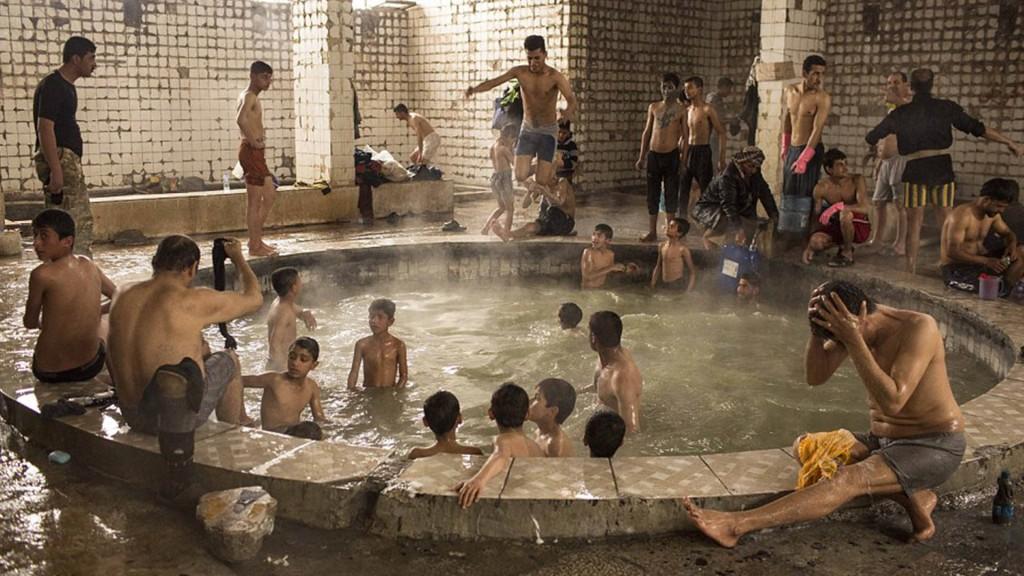Los desplazados también reciben servicios de higiene personal (Gentileza Polaris)