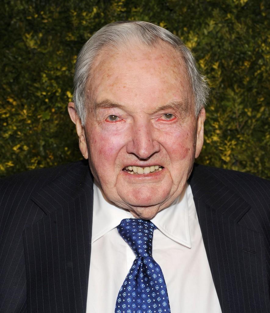 David Rockefeller asiste a la Subasta Verde: un intento de salvar la Tierraen la casa de subastasChristie's el 29 de marzo de 2011 en Nueva York (Jason Kempin/Getty Images)