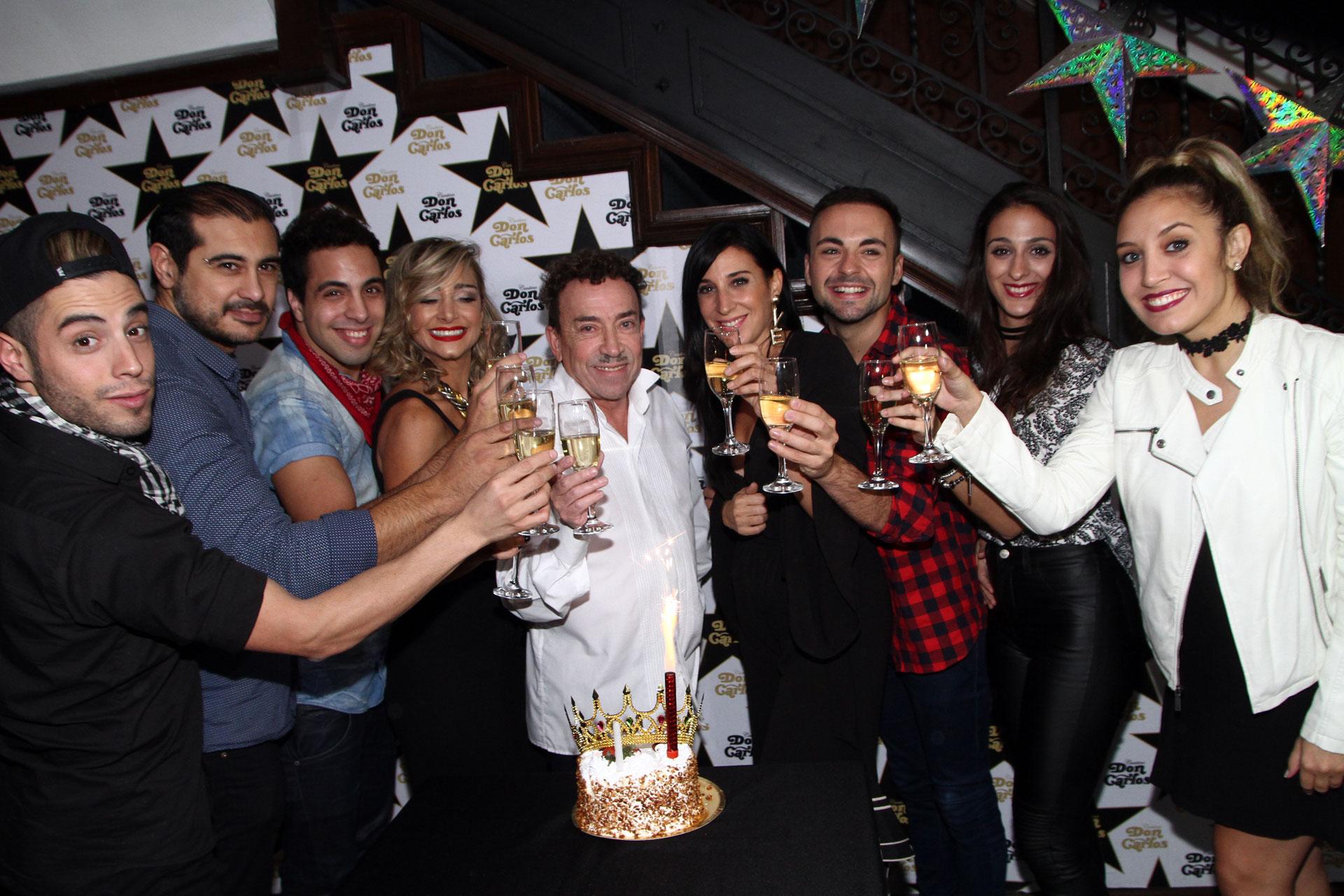 En el restaurante Don Carlos, Pachano festejó un nuevo año de vida rodeado de sus seres queridos
