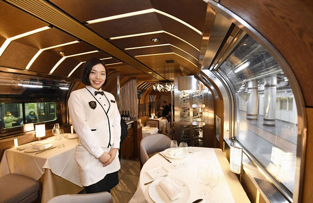 La comida que se sirve en el tren está preparada por un chef ganador de un premio Michelin