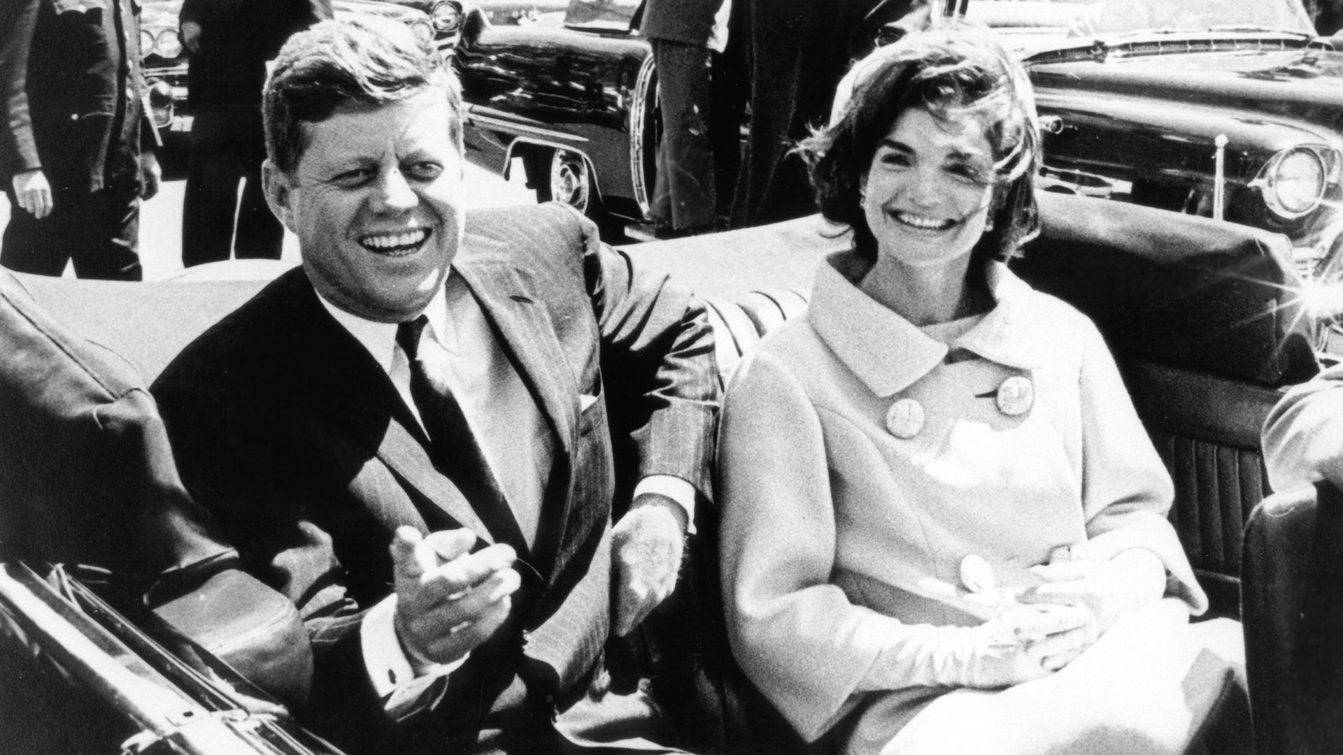 John F. Kennedy junto a su esposa, Jacqueline Bouvier