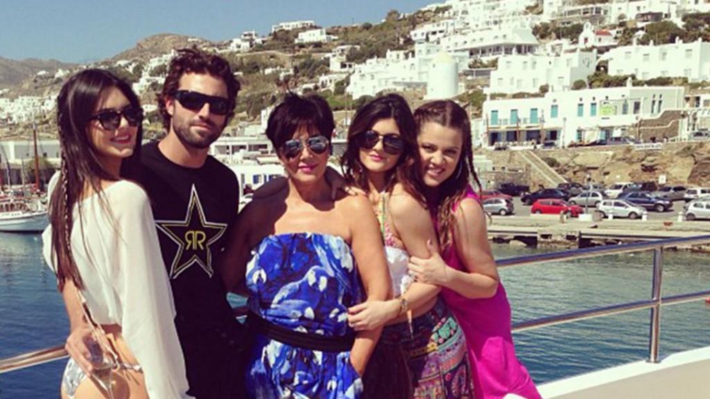 El clan Jenner/Kardashian disfrutó en 2013 unas lujosas vacaciones en Grecia (Instagram)