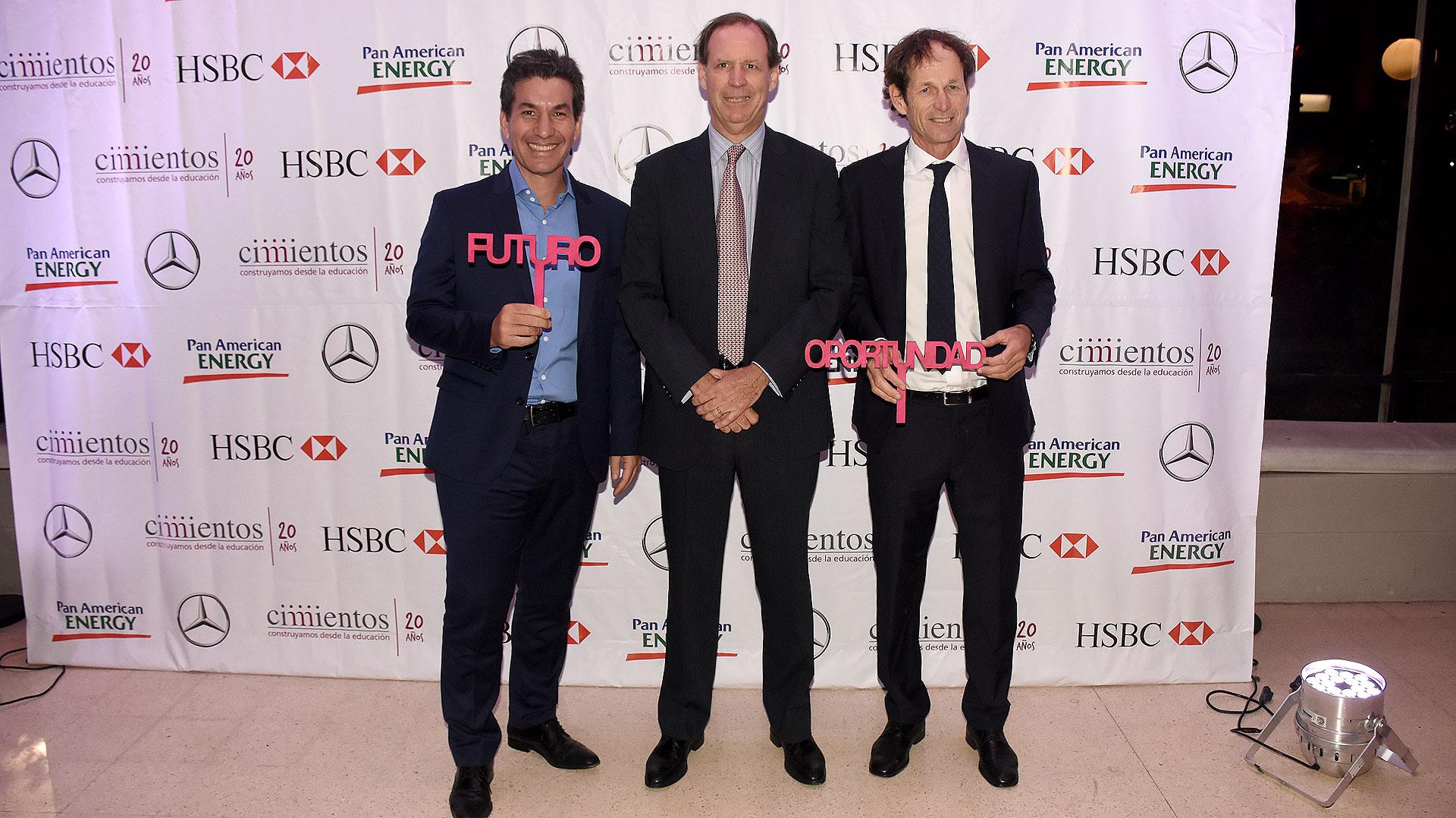 Andy Freire, Miguel Blaquier y Santiago Lange
