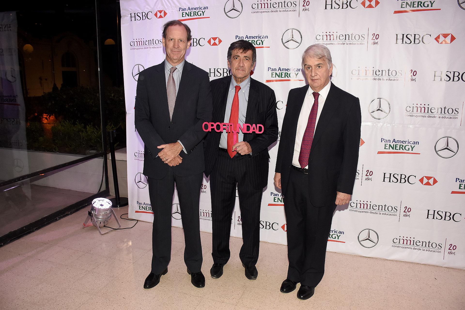Miguel Blaquier, Marcos Gastaldi y Eduardo Franck