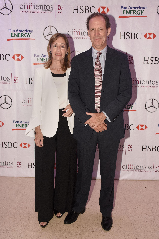 El presidente de Cimientos, Miguel Blaquier, junto a su esposa Felisa Blaquier