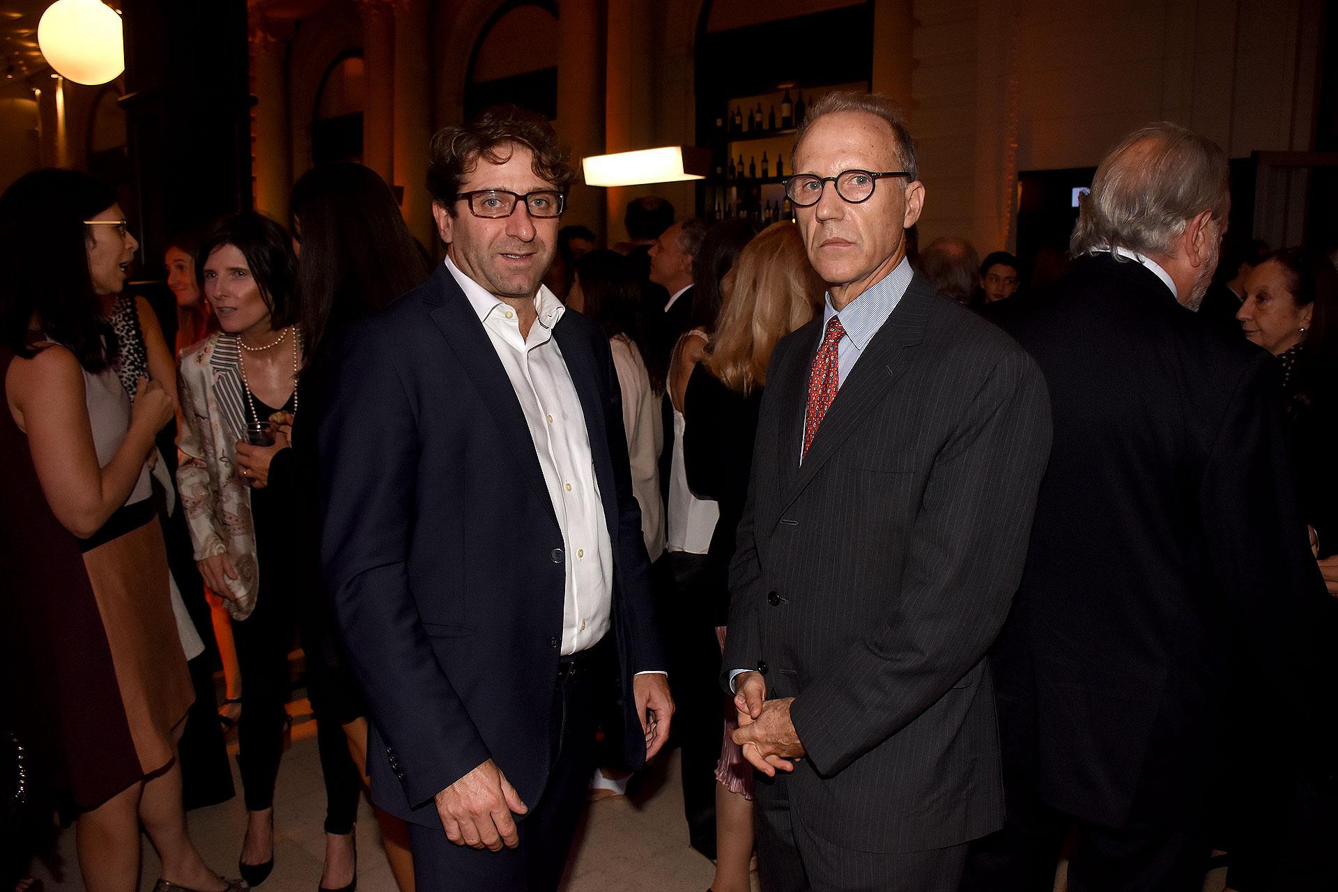 El secretario general de la Ciudad, Fernando Straface, y el juez de la Corte Suprema de Justicia de la Nación, Carlos Rosenkrantz