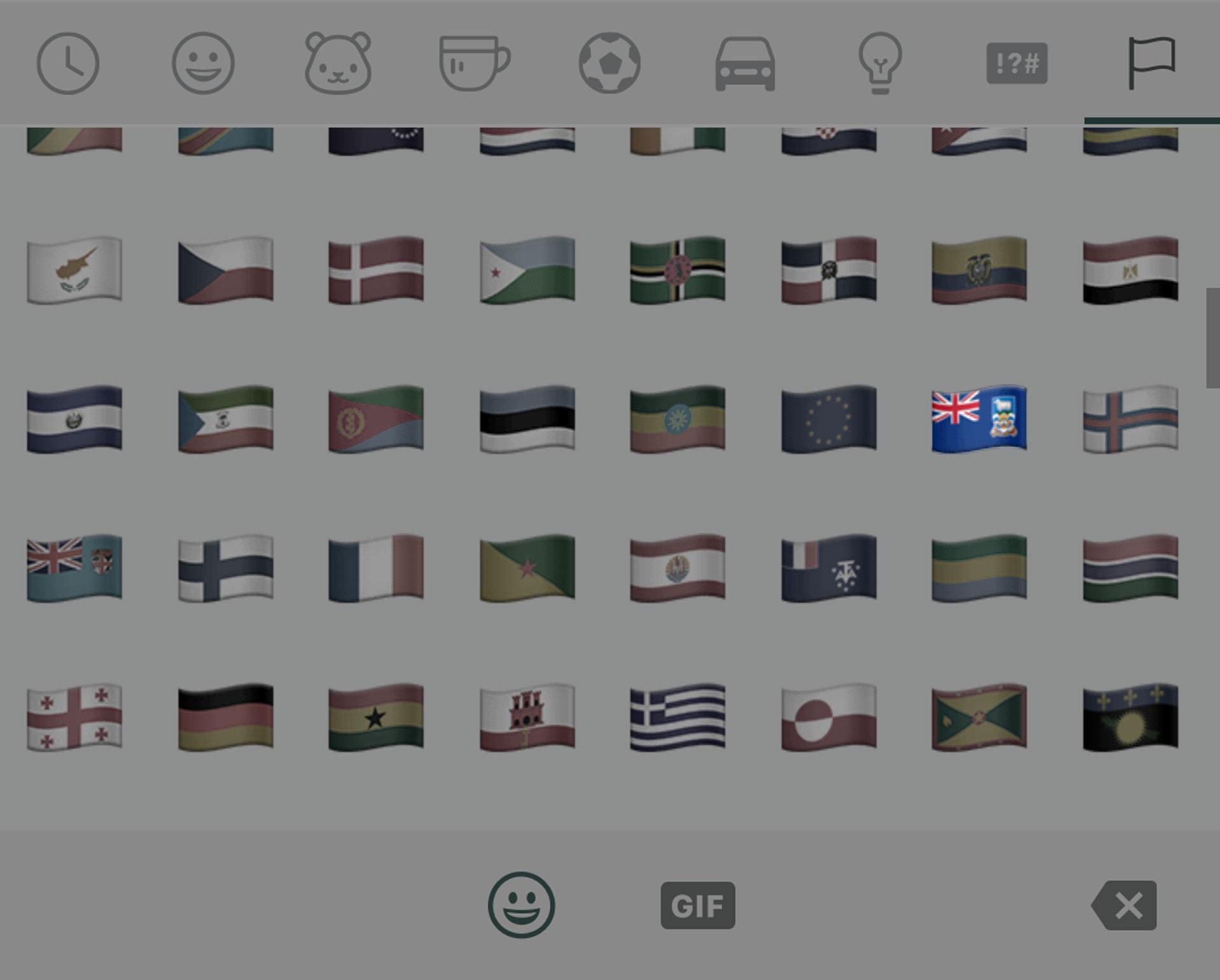 La nueva bandera fue incorporada en la última actualización de WhatsApp