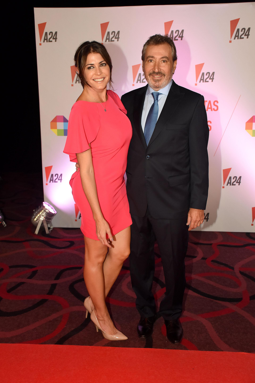 Daniel Vila y su mujer, Pamela David