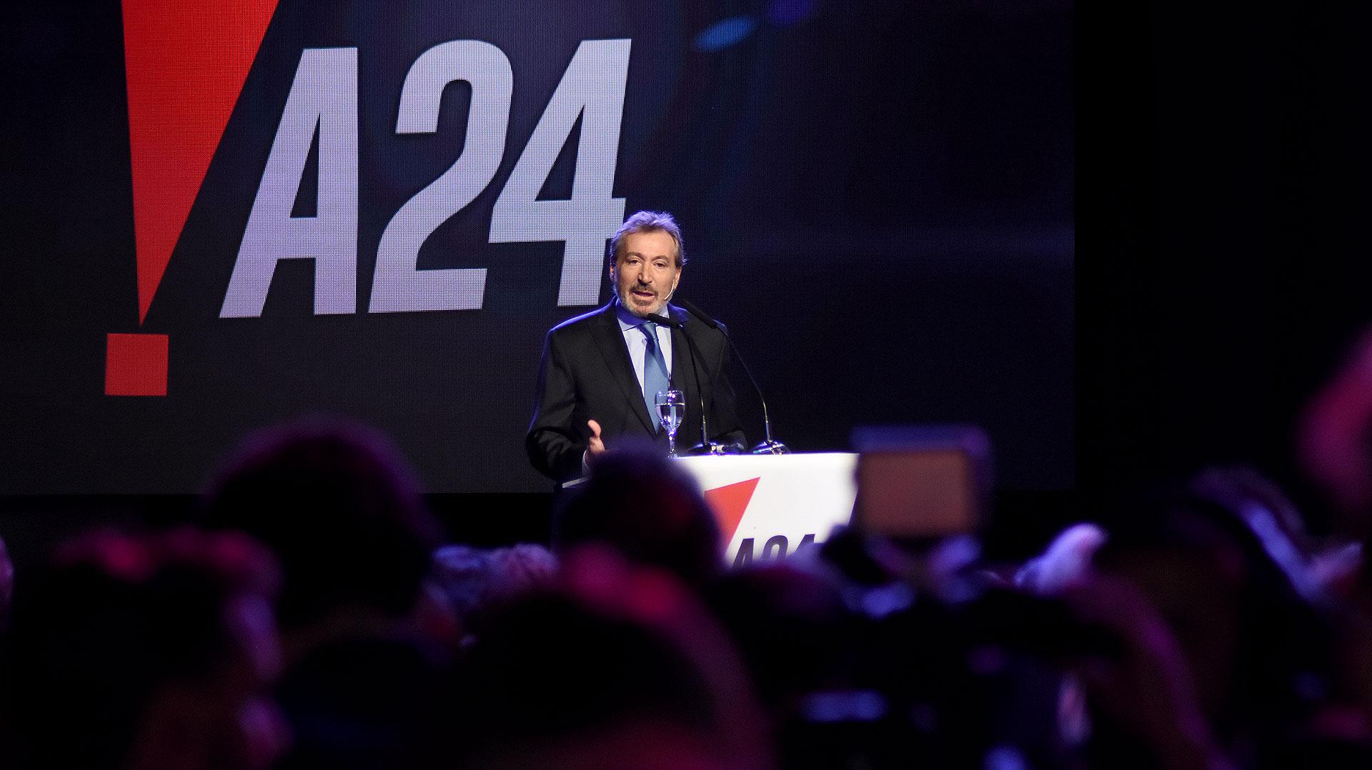 El discurso de Daniel Vila, presidente del Grupo América, durante la gran presentación de A24 que se llevó a cabo en vivo