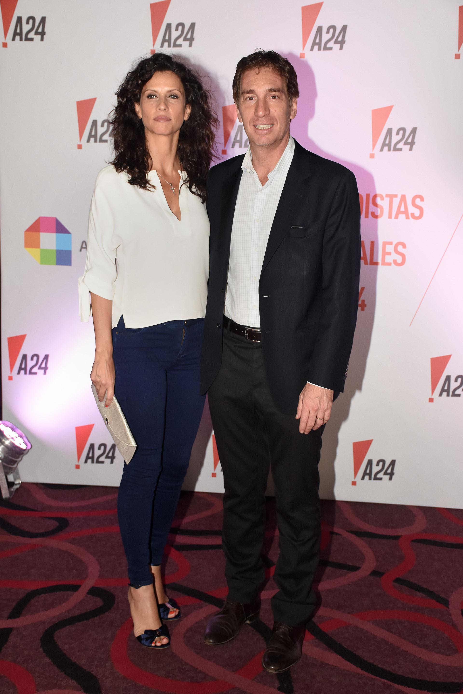 Diego Santilli, vicejefe de Gobierno porteño, junto a su mujer Analía Maiorana