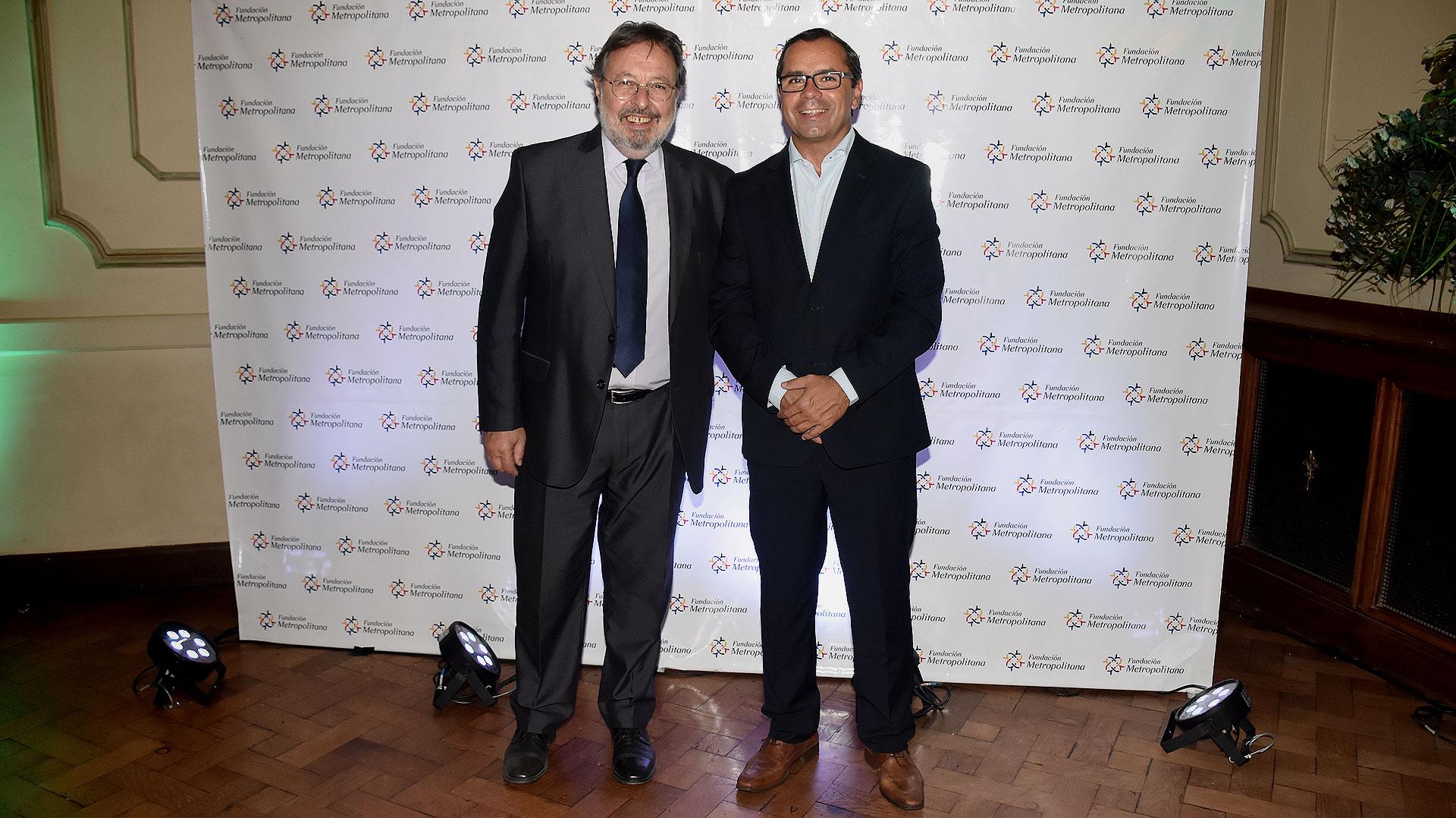Pedro Del Piero, presidente de la Fundación Metropolitana, junto a Gastón Urquiza, director ejecutivo de esa Fundación