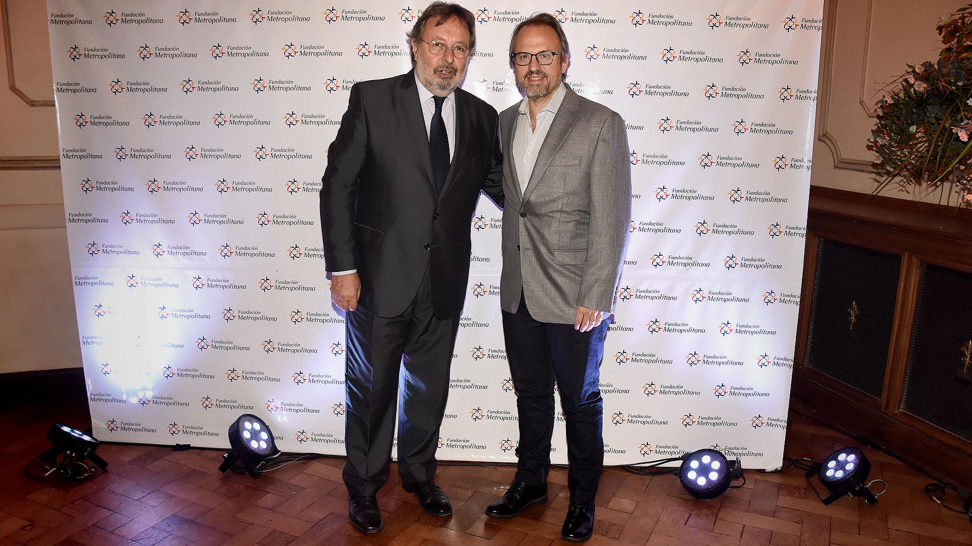 Pedro Del Piero y Diego Valenzuela, intendente de Tres de Febrero