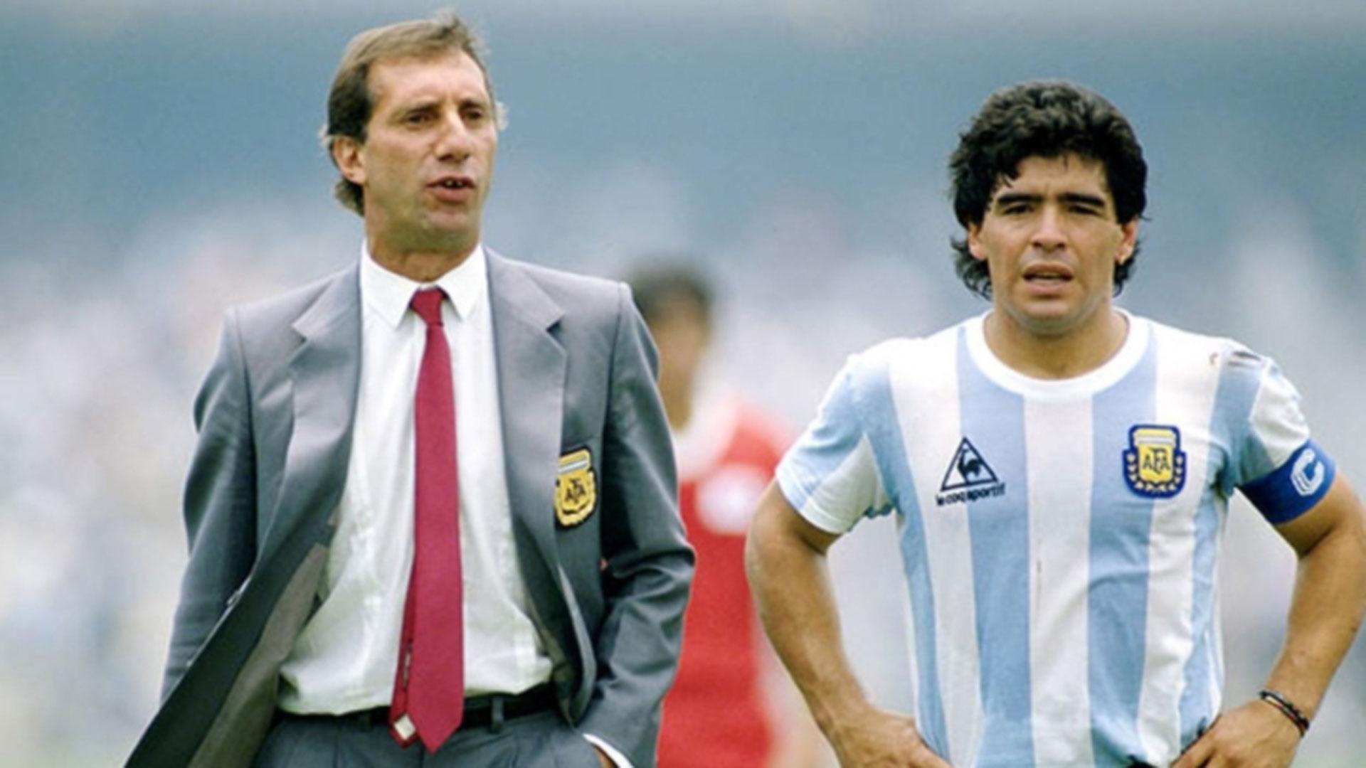 """Bilardo y Maradona. Diego se complotó con Ruggeri para el """"saqueo"""" de la ropa"""