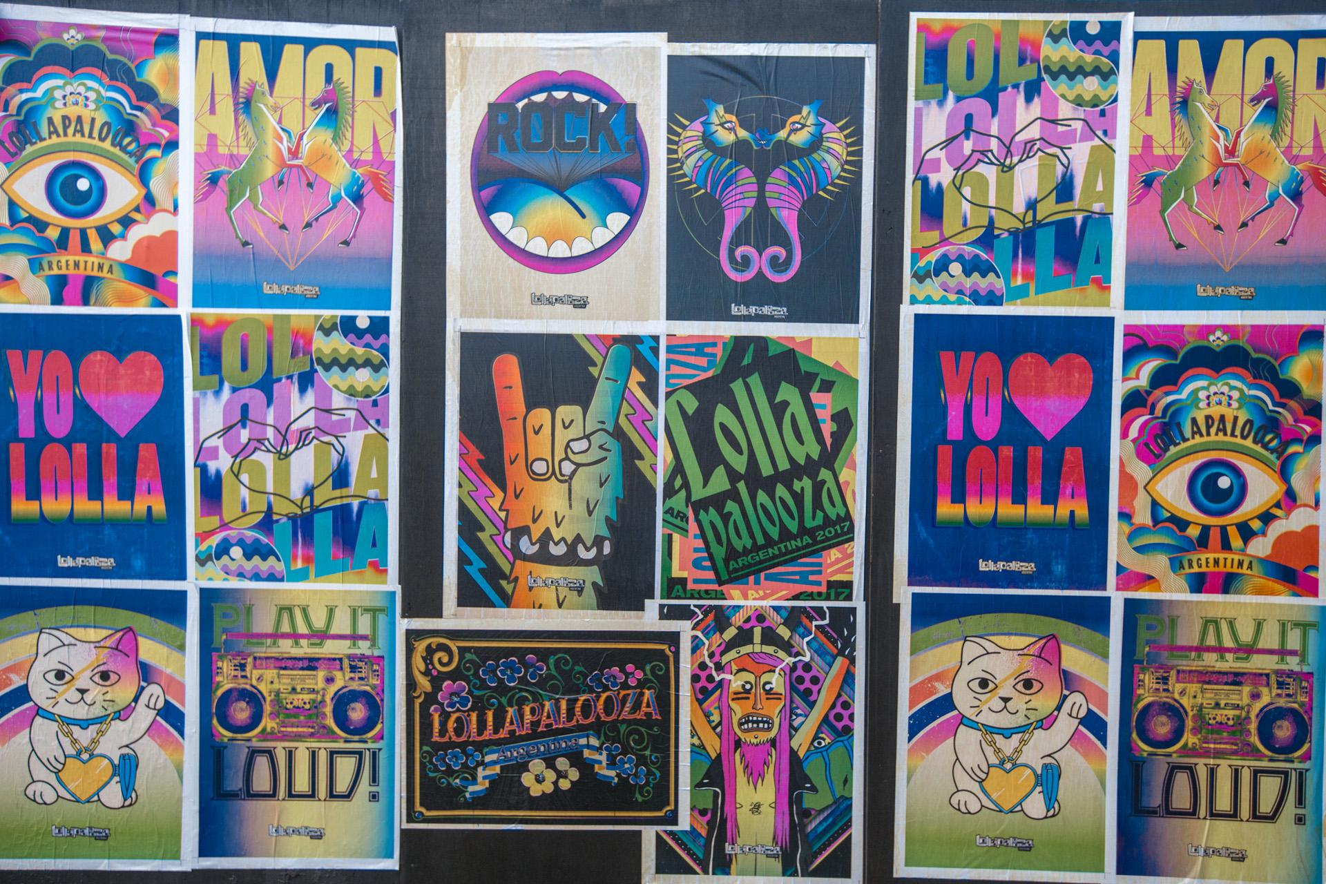 Los afiches de Lollapalooza
