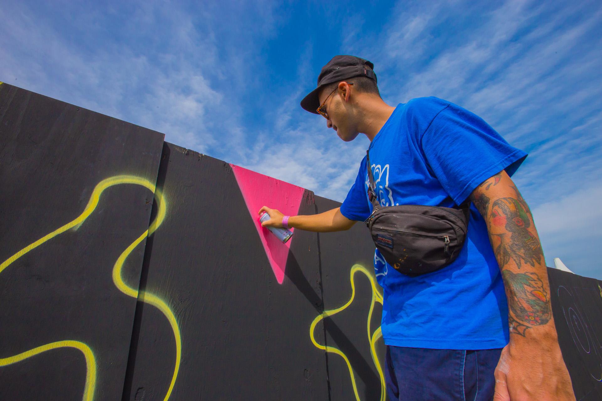 Arte callejero en Lollapalooza