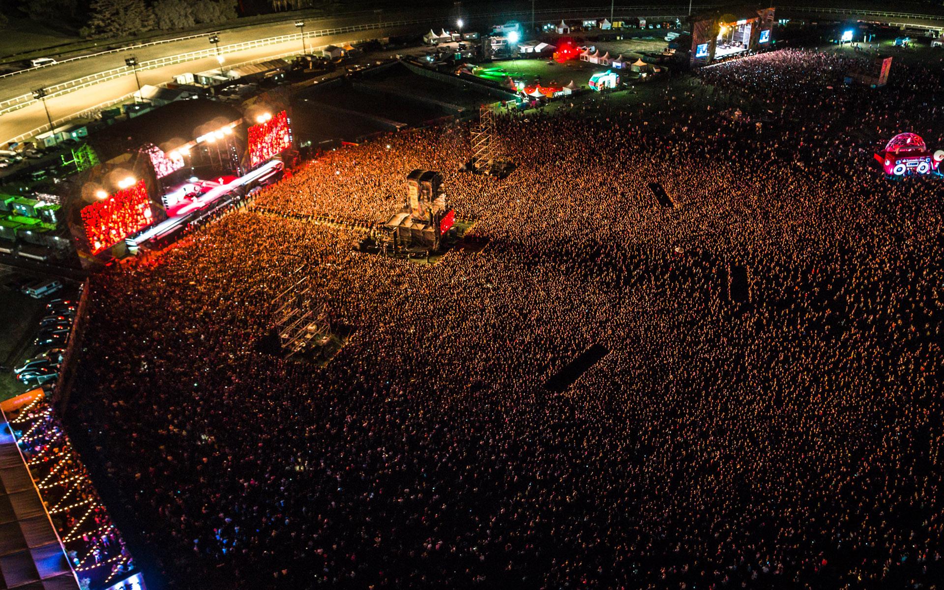 Miles de personas disfrutaron del show de Metallica