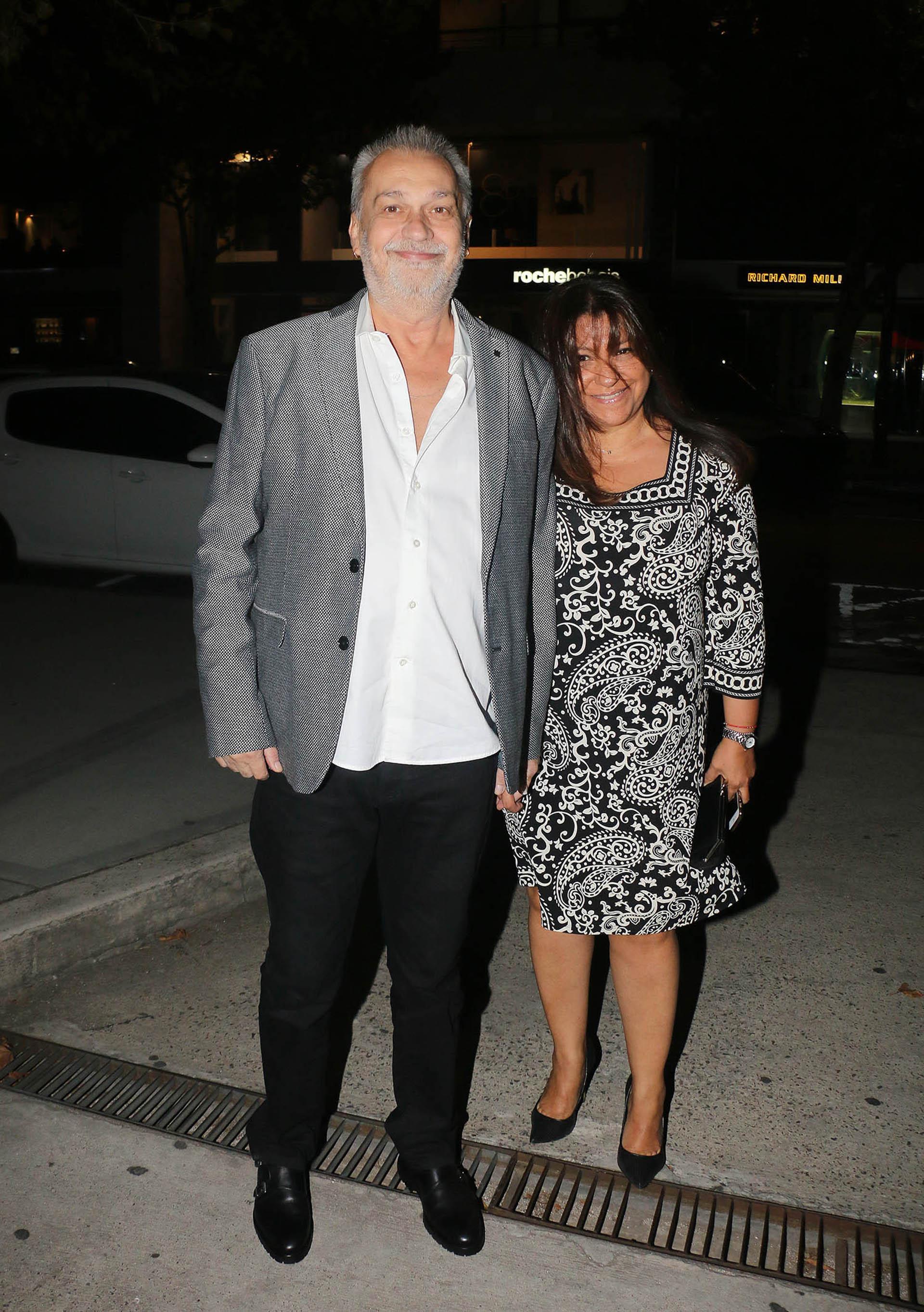 David Lebón y su mujer (Fotos: Verónica Guerman/Teleshow)