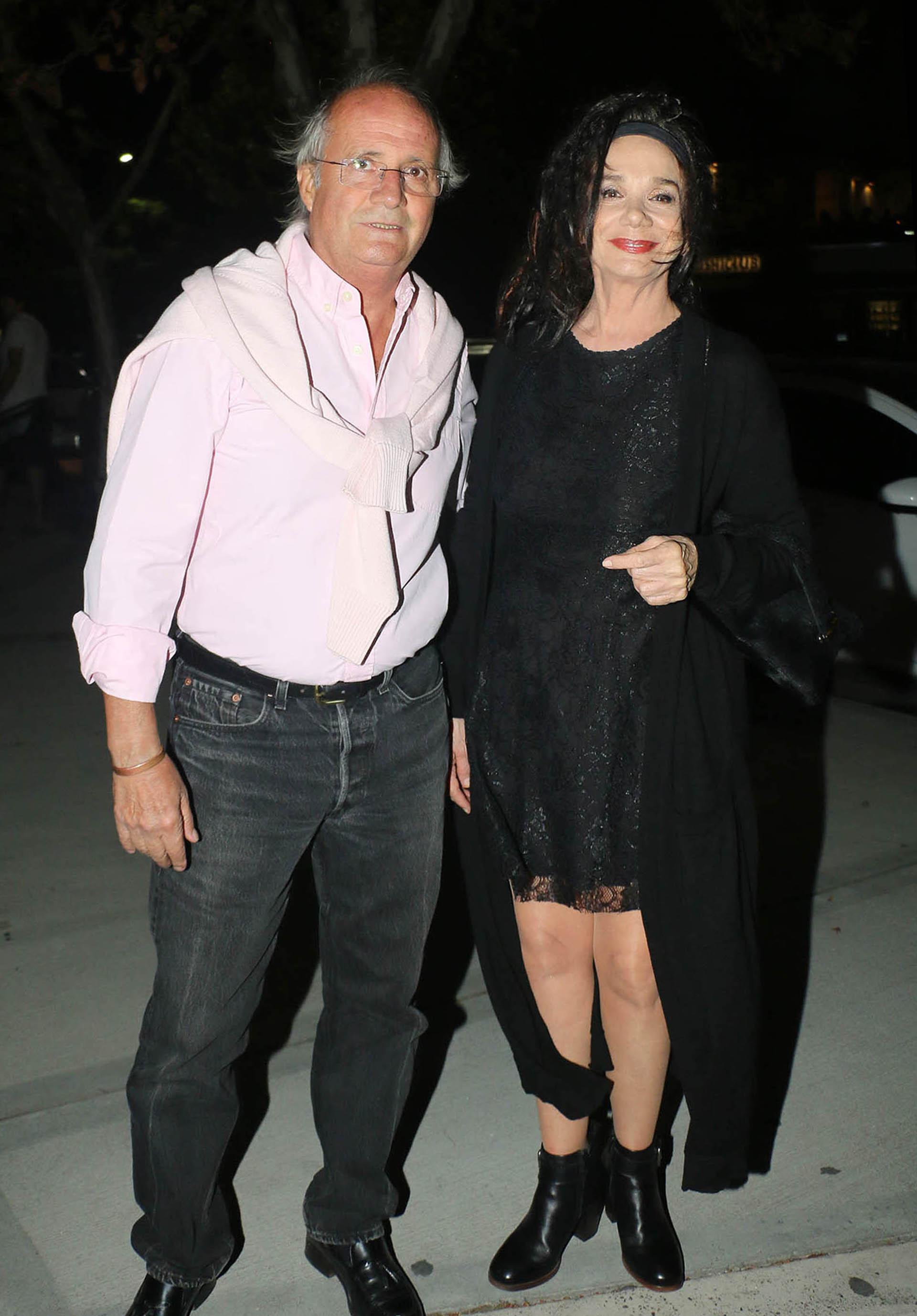 La actriz Ana María Picchio y su pareja