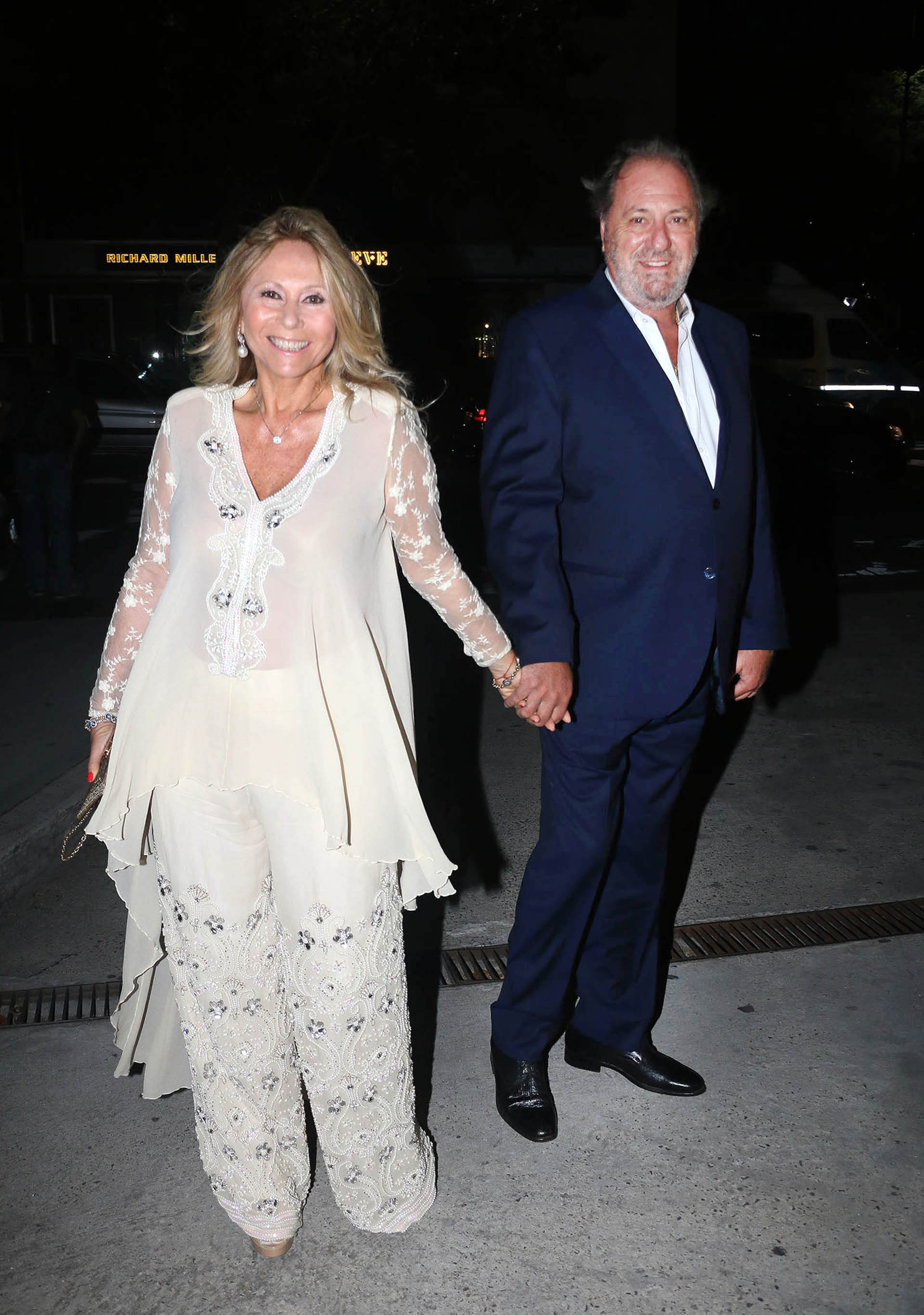 Ana Rosenfeld y su pareja Marcelo Frydlewski