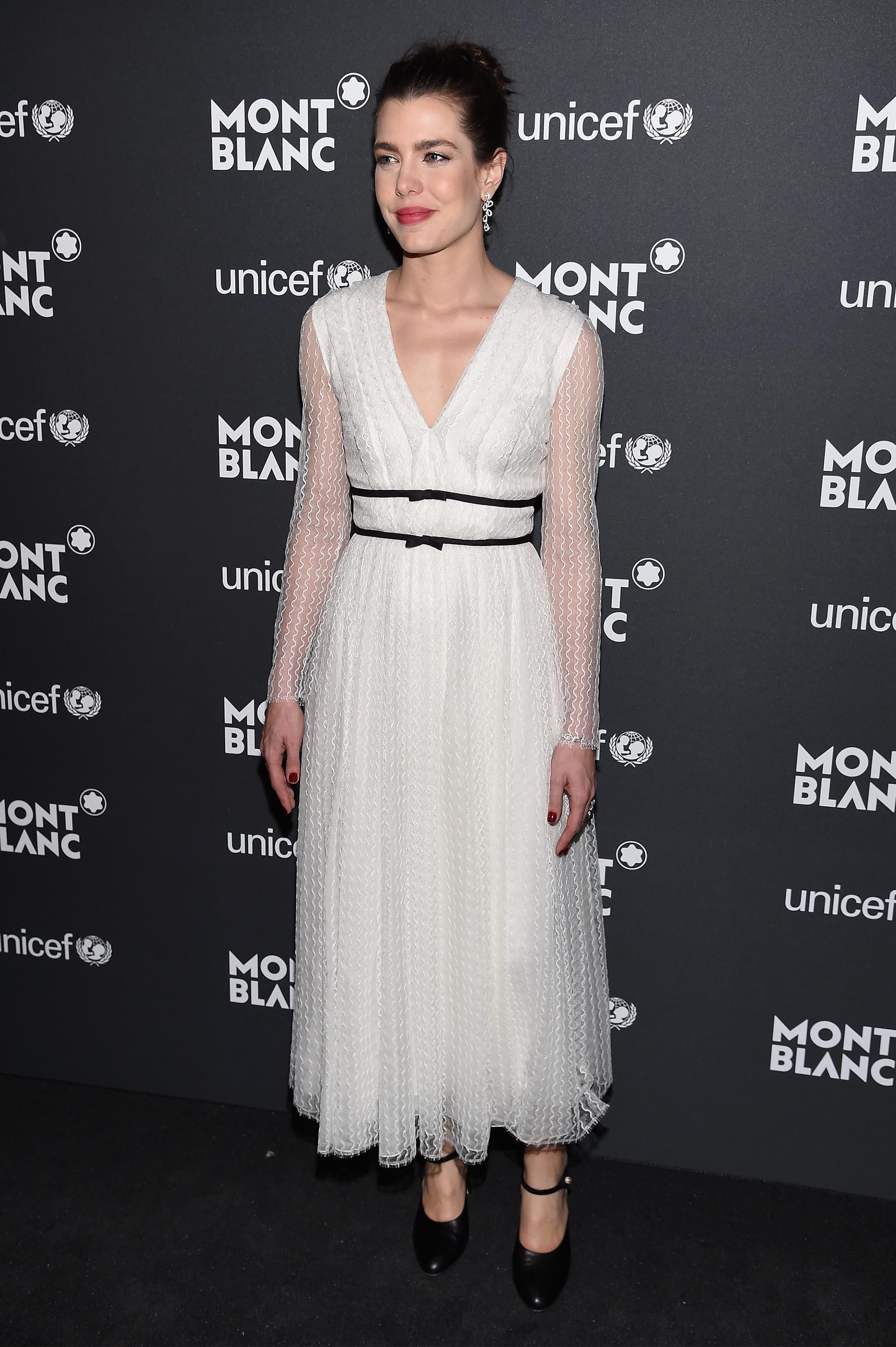 Charlotte Casiraghi viajó a Nueva York para asistir a la gala de UNICEF, que se llevó a cabo en la Biblioteca Pública de Nueva York