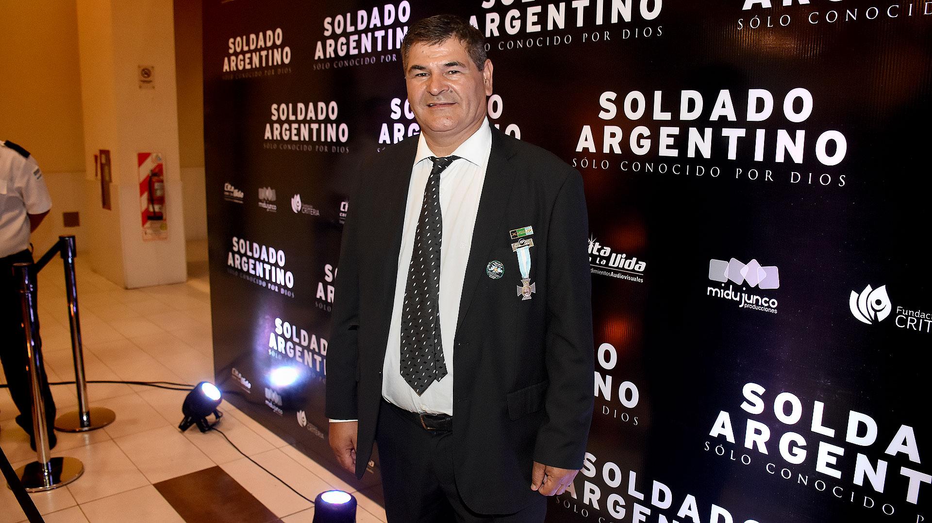 Oscar Poltronieri, ex combatiente condecorado por su valor en la guerra
