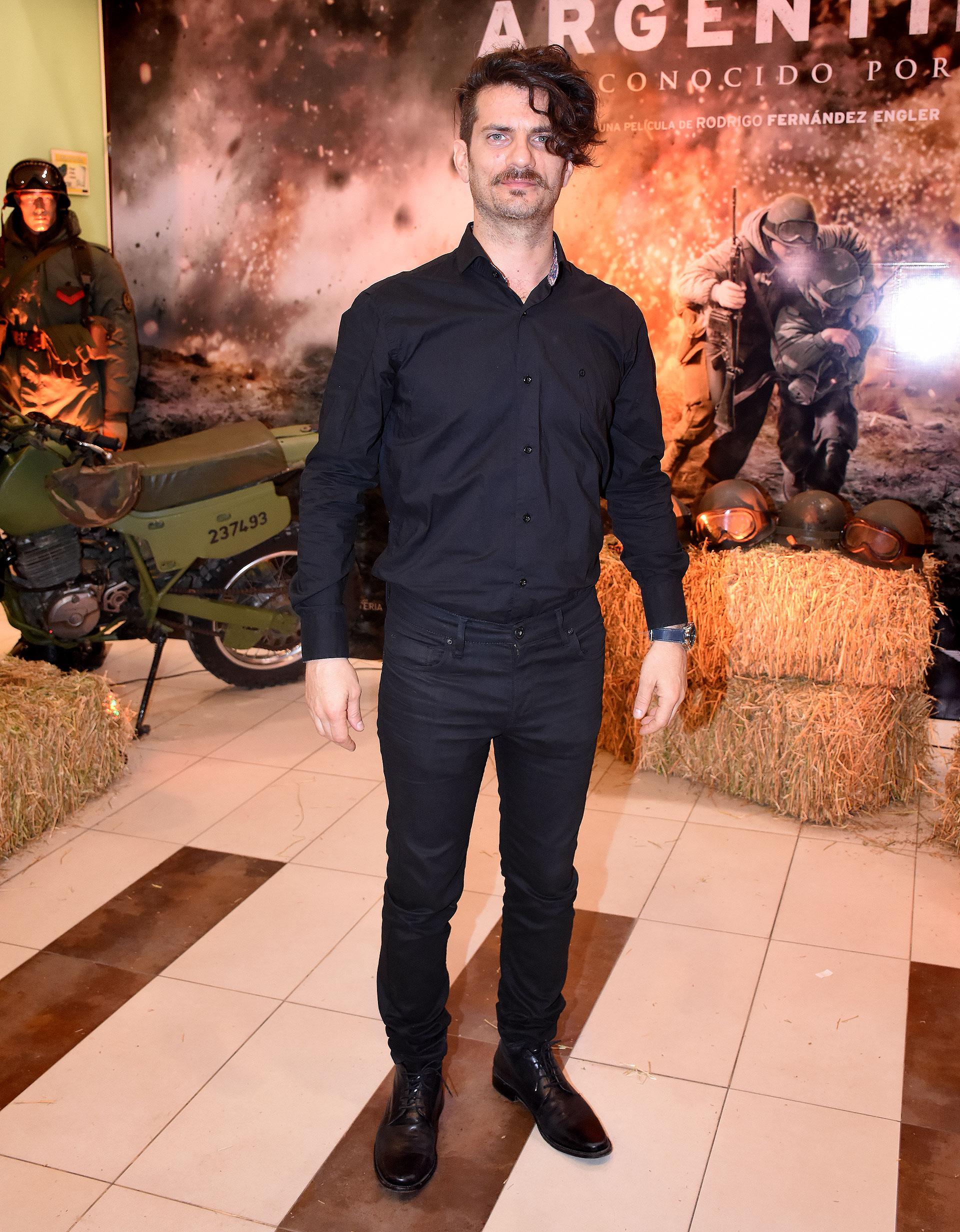 Fabio Di Tomaso, que en la película interpreta al suboficial Quiroga