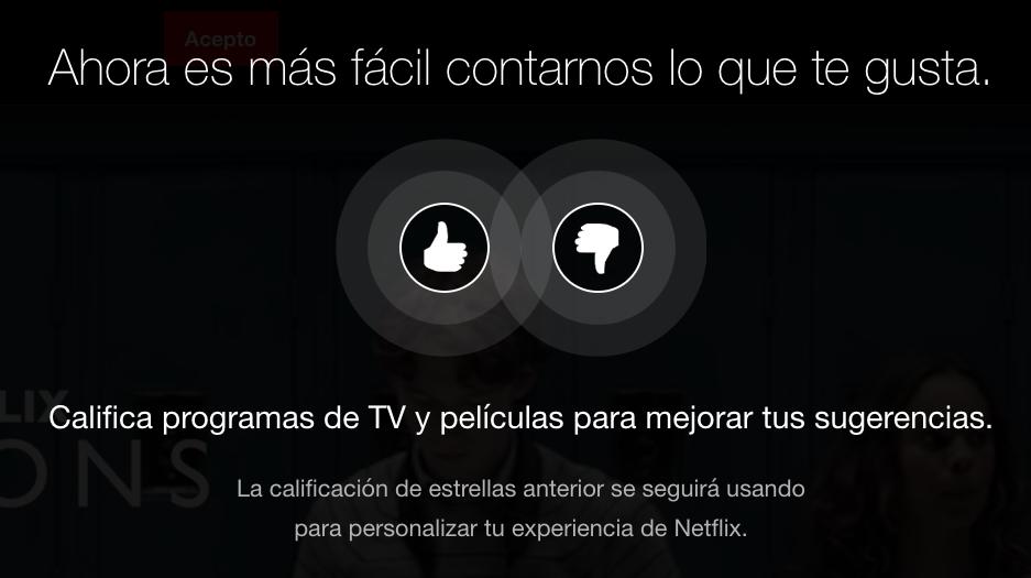 El sistema de evaluación de Netflix: pulgar por estrellas