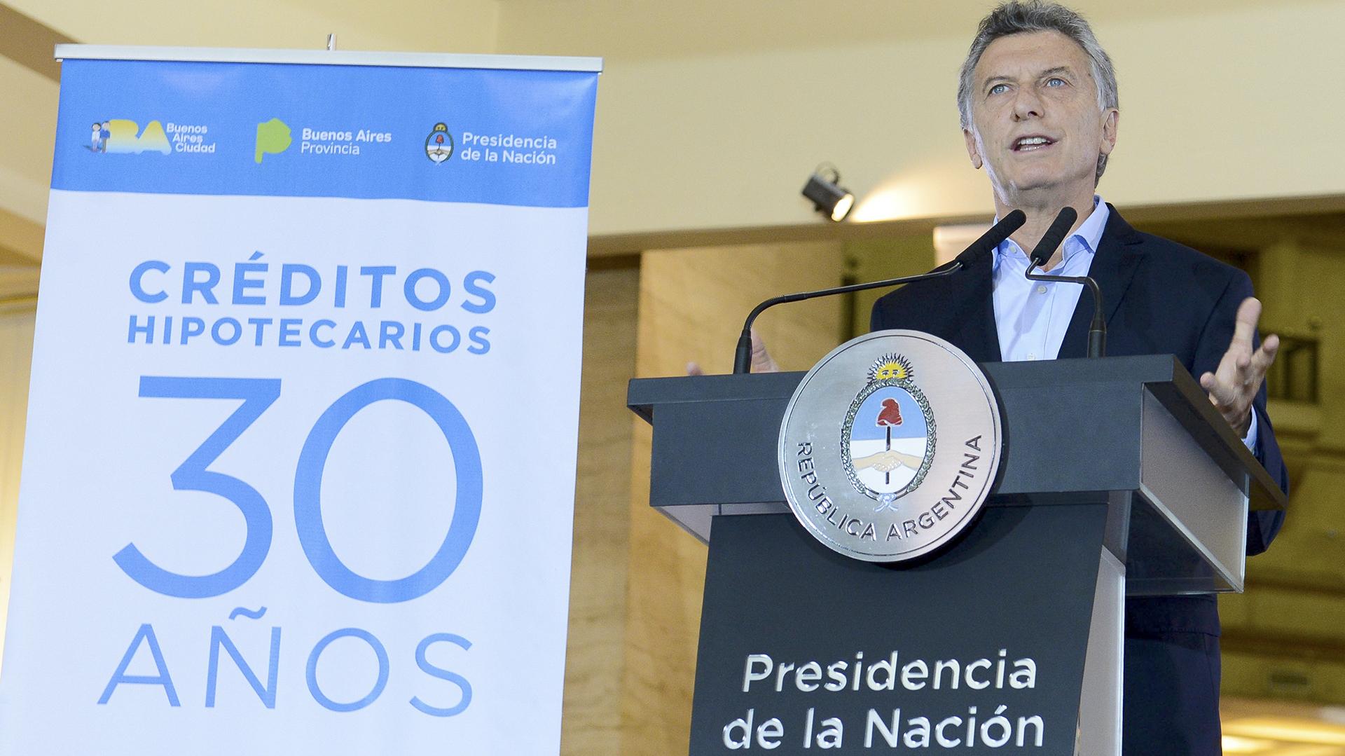 El presidente de la Nación Mauricio Macri