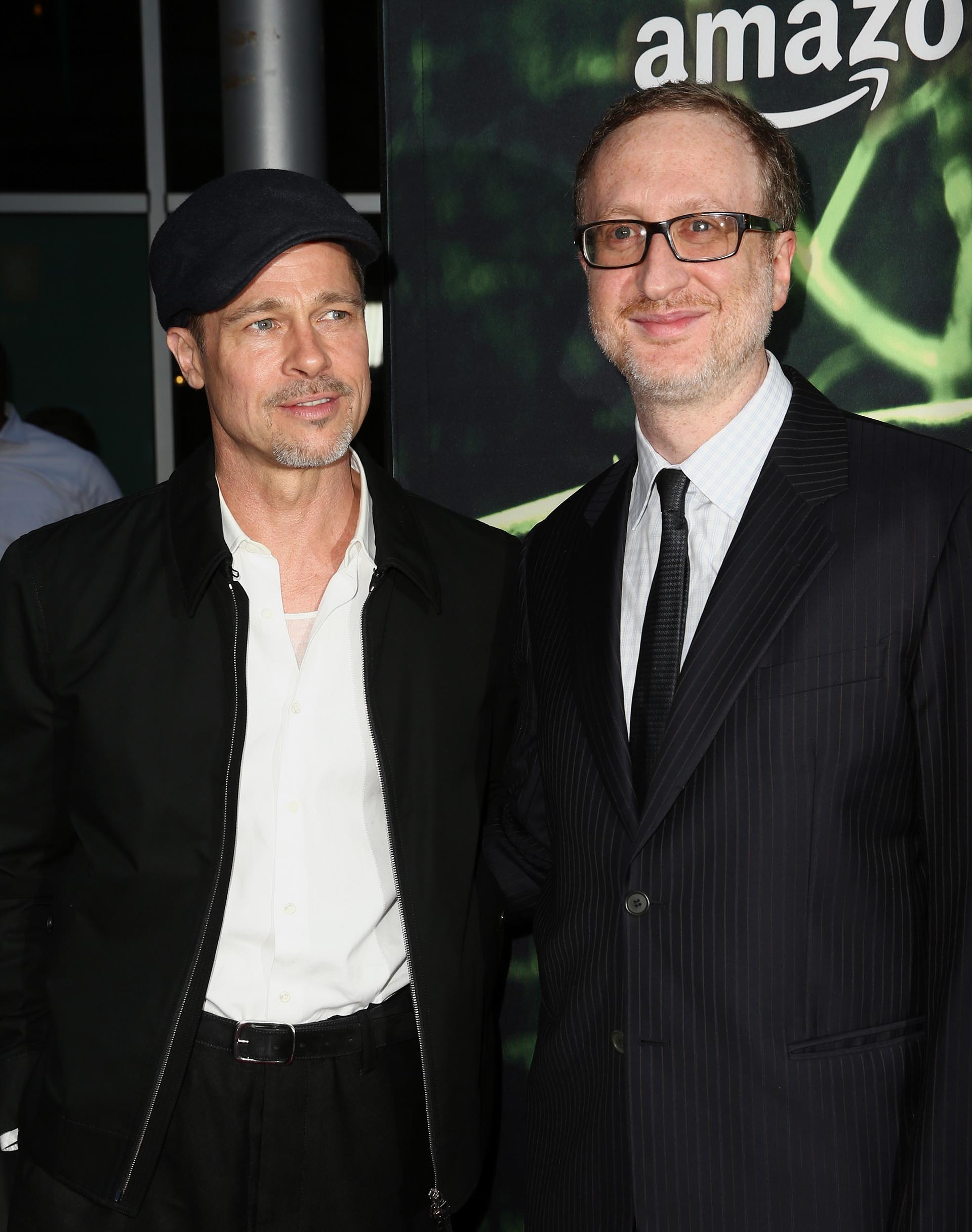 El productor ejecutivo de la película, Brad Pitt, junto al escritor, productor y director, James Gray /// Fotos: Getty Images – Reuters
