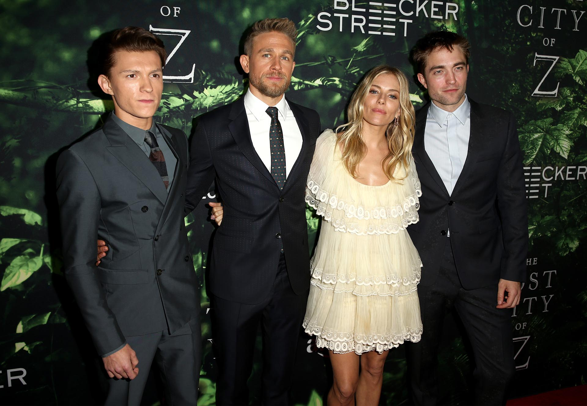 Tom Holland, Charlie Hunnam, Sienna Miller y Robert Pattinson