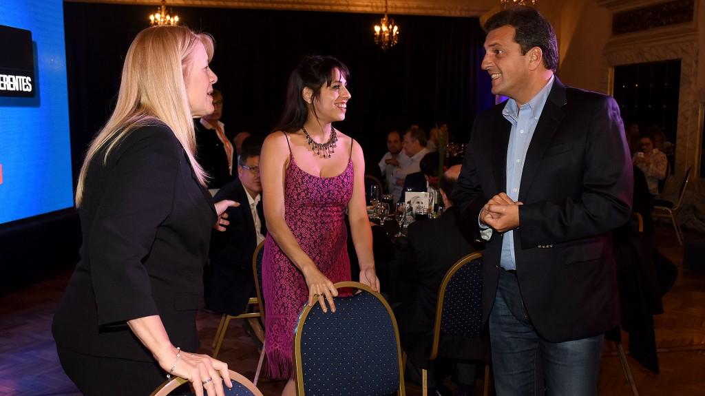 Los diputados Margarita Stolbizer (GEN), Victoria Donda (Libres del Sur) y Sergio Massa (Frente Renovador)