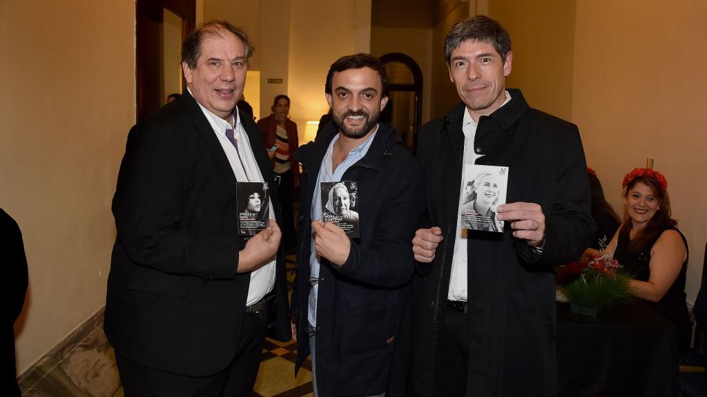 Fabio Basteiro, Leonardo Grosso y Juan Manuel Abal Medina