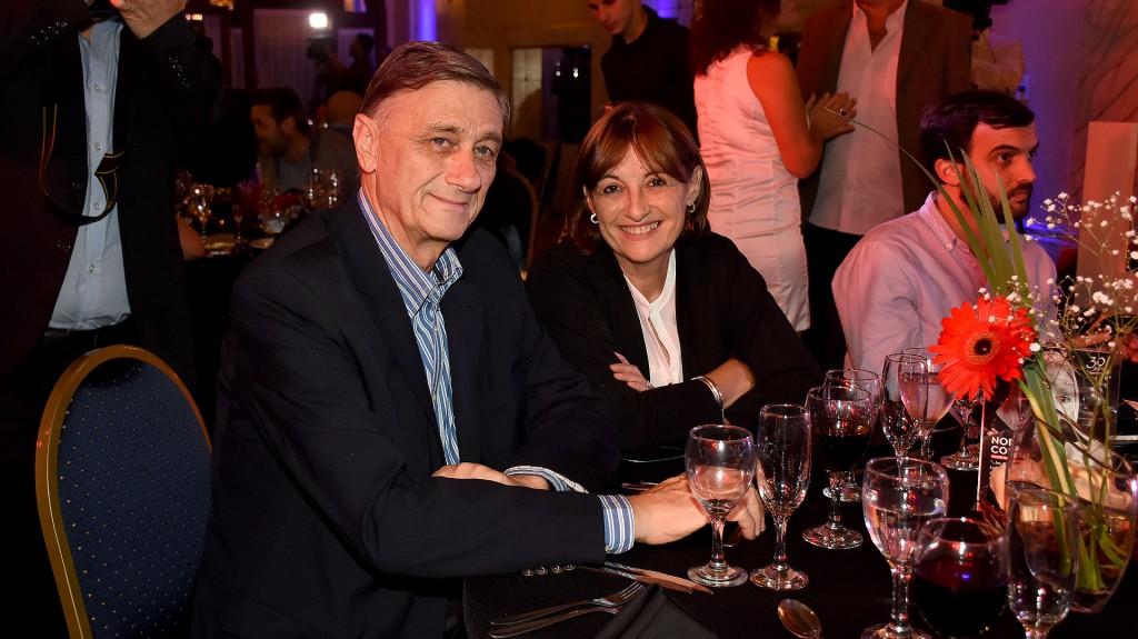 Hermes Binner y Alicia Ciciliani, diputada del Partido Socialista de Santa Fe