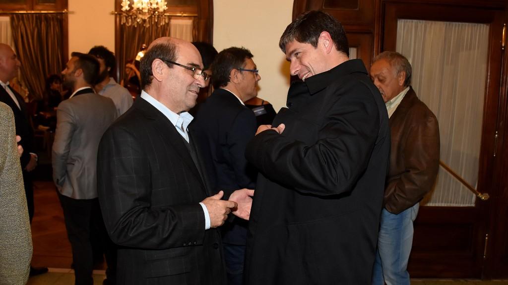 Humberto Tumini, presidente del Movimiento Libres del Sur, y Juan Manuel Abal Medina, senador del Frente para la Victoria